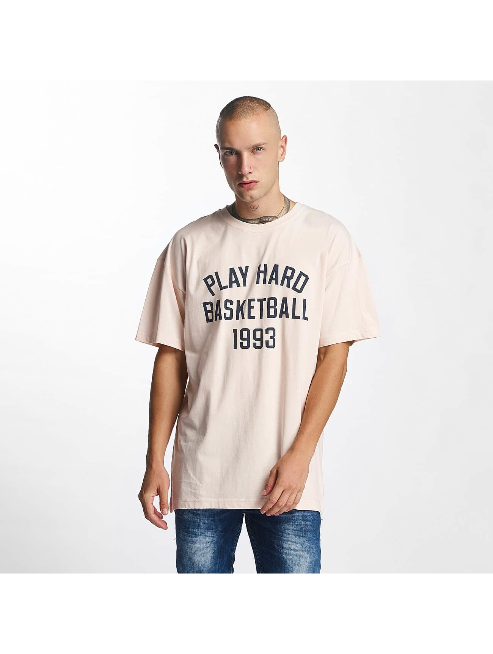 K1X T-Shirt Play Hard Basketball rosa