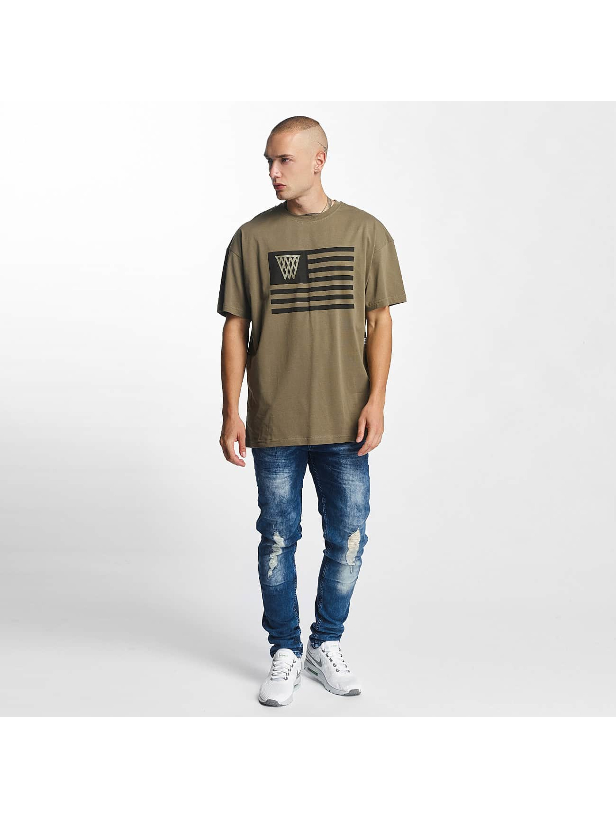 K1X T-Shirty NOH Flag oliwkowy