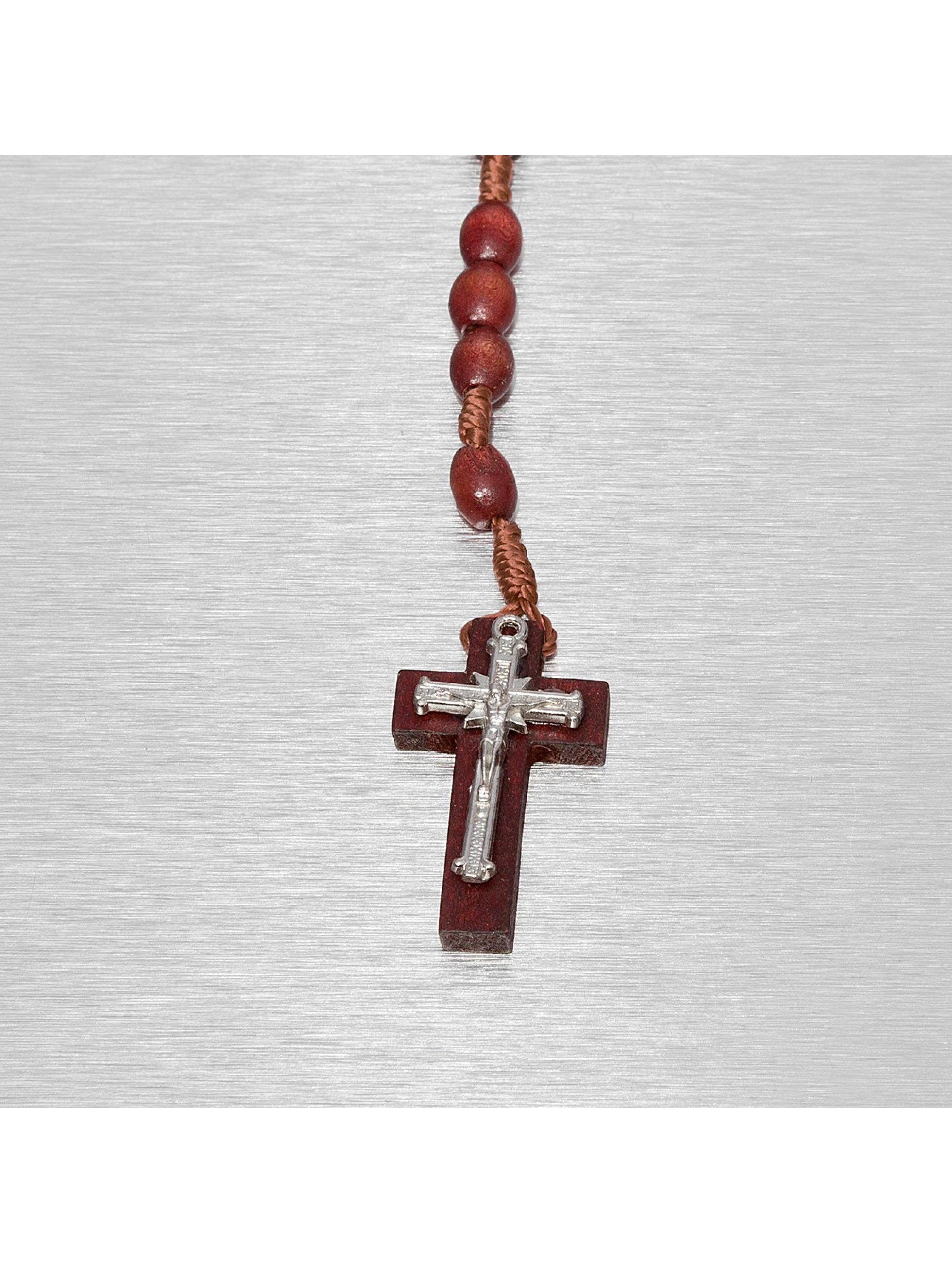 Kaiser Jewelry Цепочка Wood Rosary Cross красный