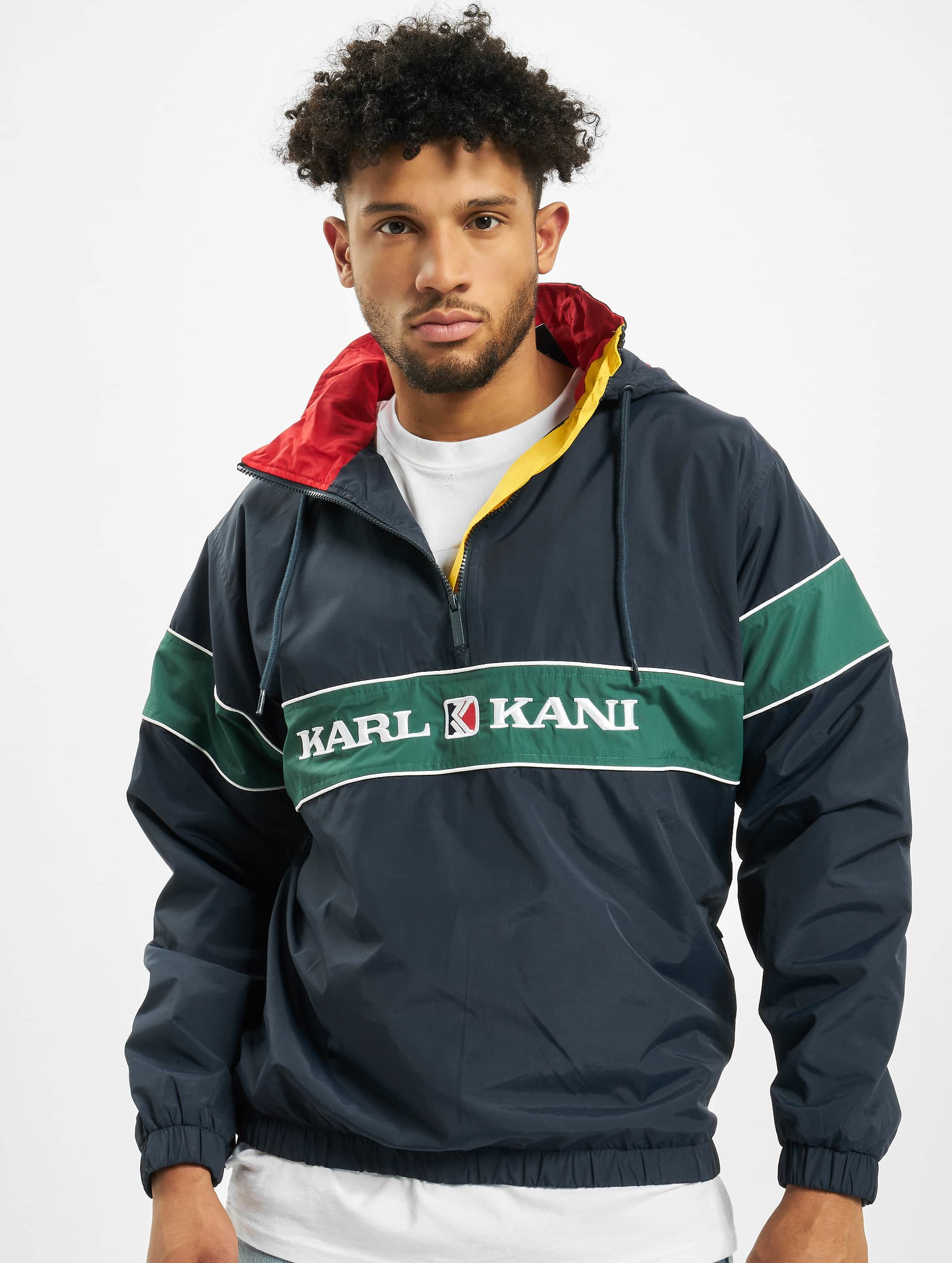 Karl Kani Retro Windbreaker NavyGreenRedYellow