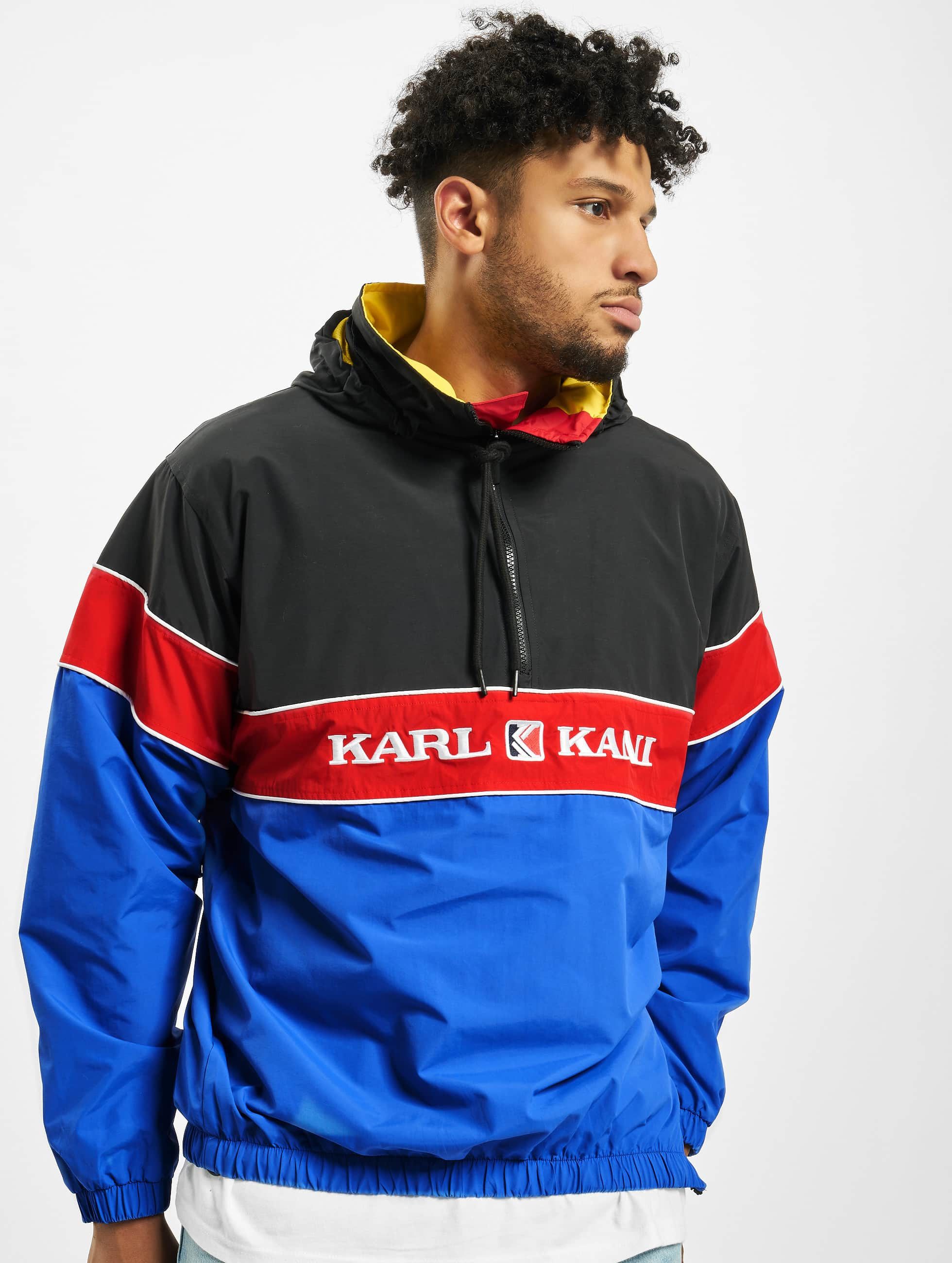 Karl Kani Retro Windbreaker BlueBlackRedYellow