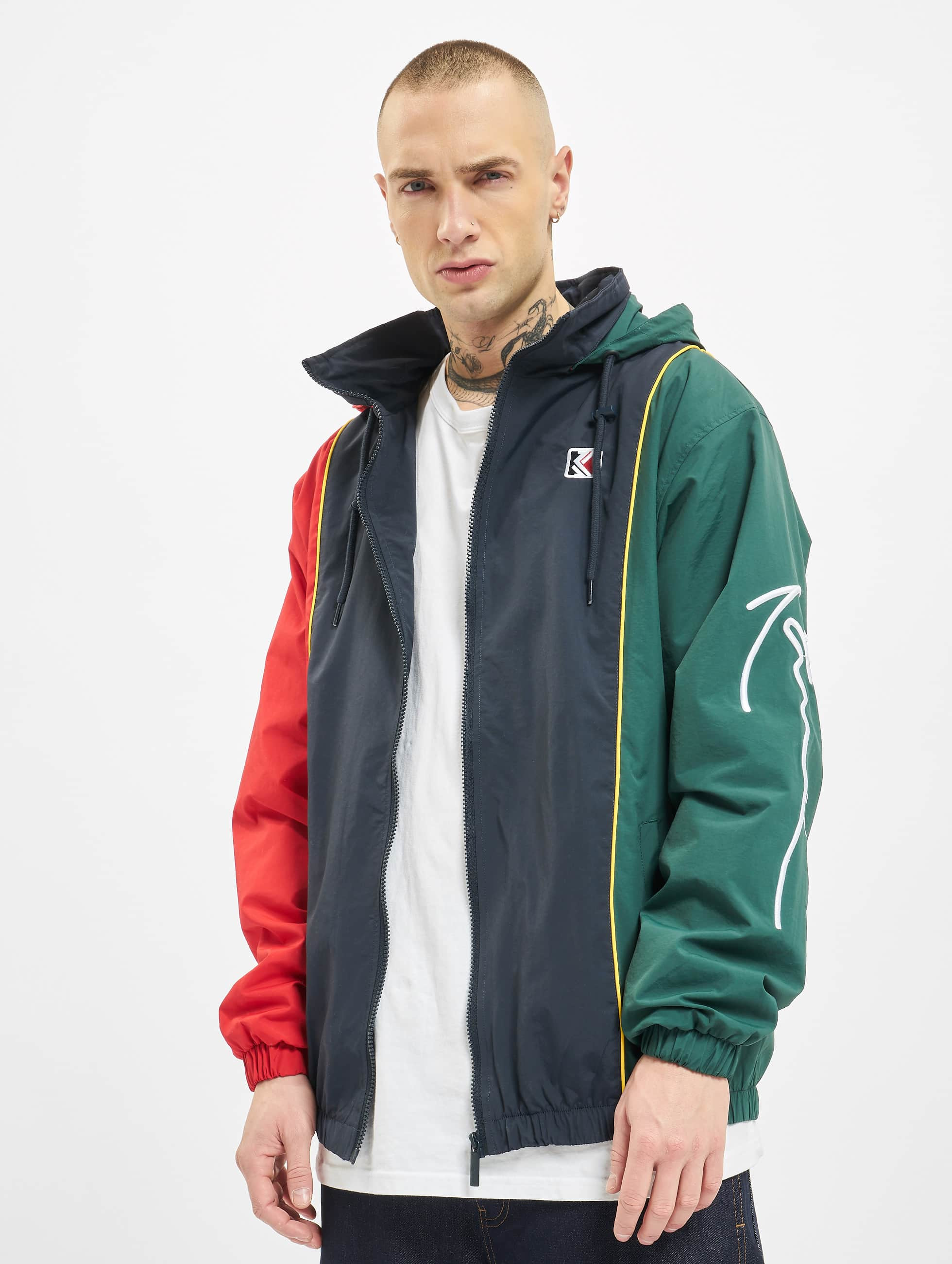 Karl Kani Retro Block Track Jacket NavyRedGreenYellowWhite