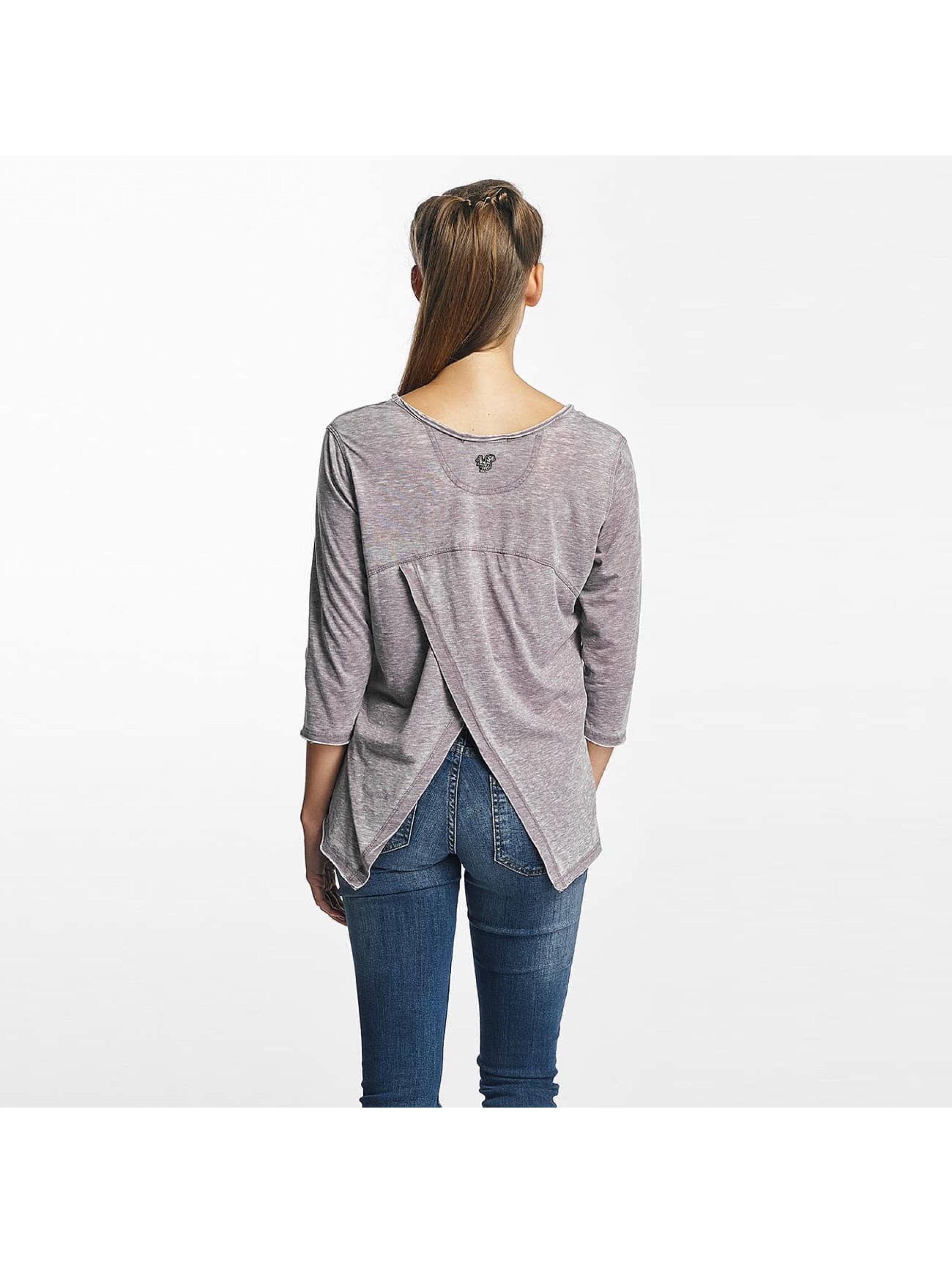 Khujo Camiseta de manga larga Solveig gris