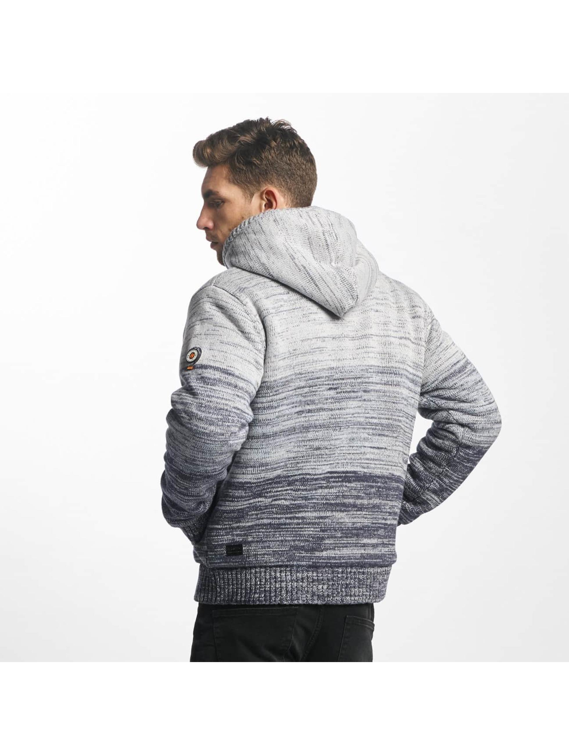 Khujo Lightweight Jacket Prib Knit grey
