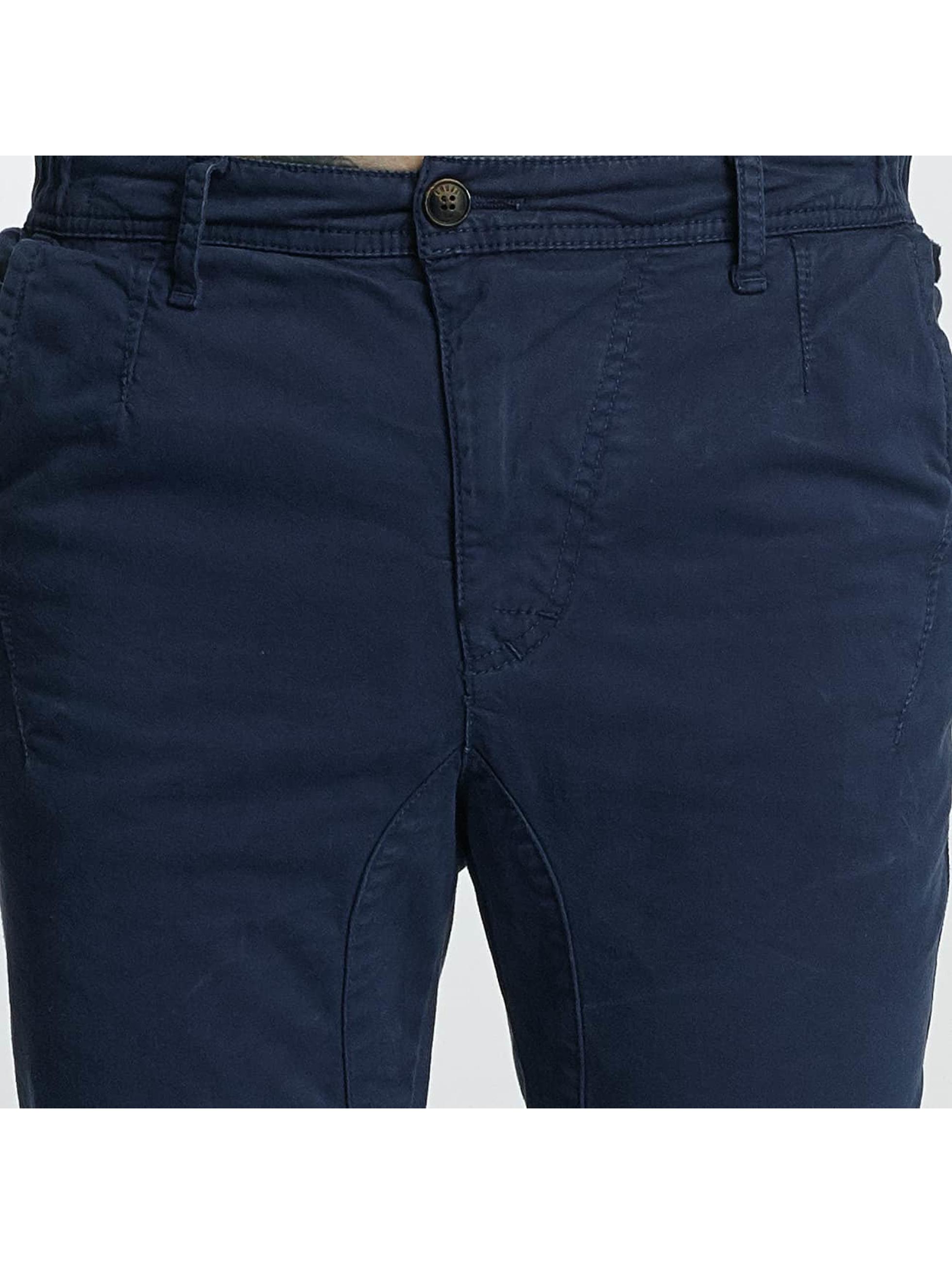 Khujo Pantalon chino Bradley bleu