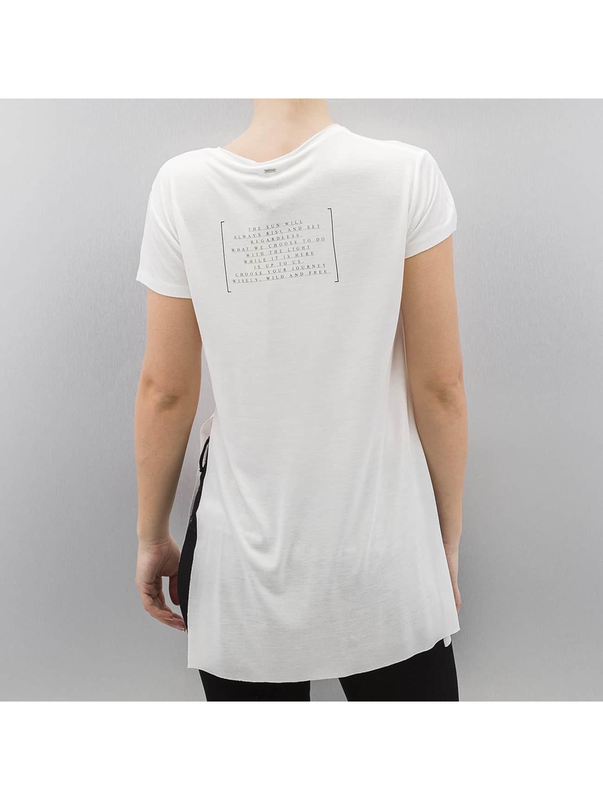 Khujo T-Shirt Flapp weiß