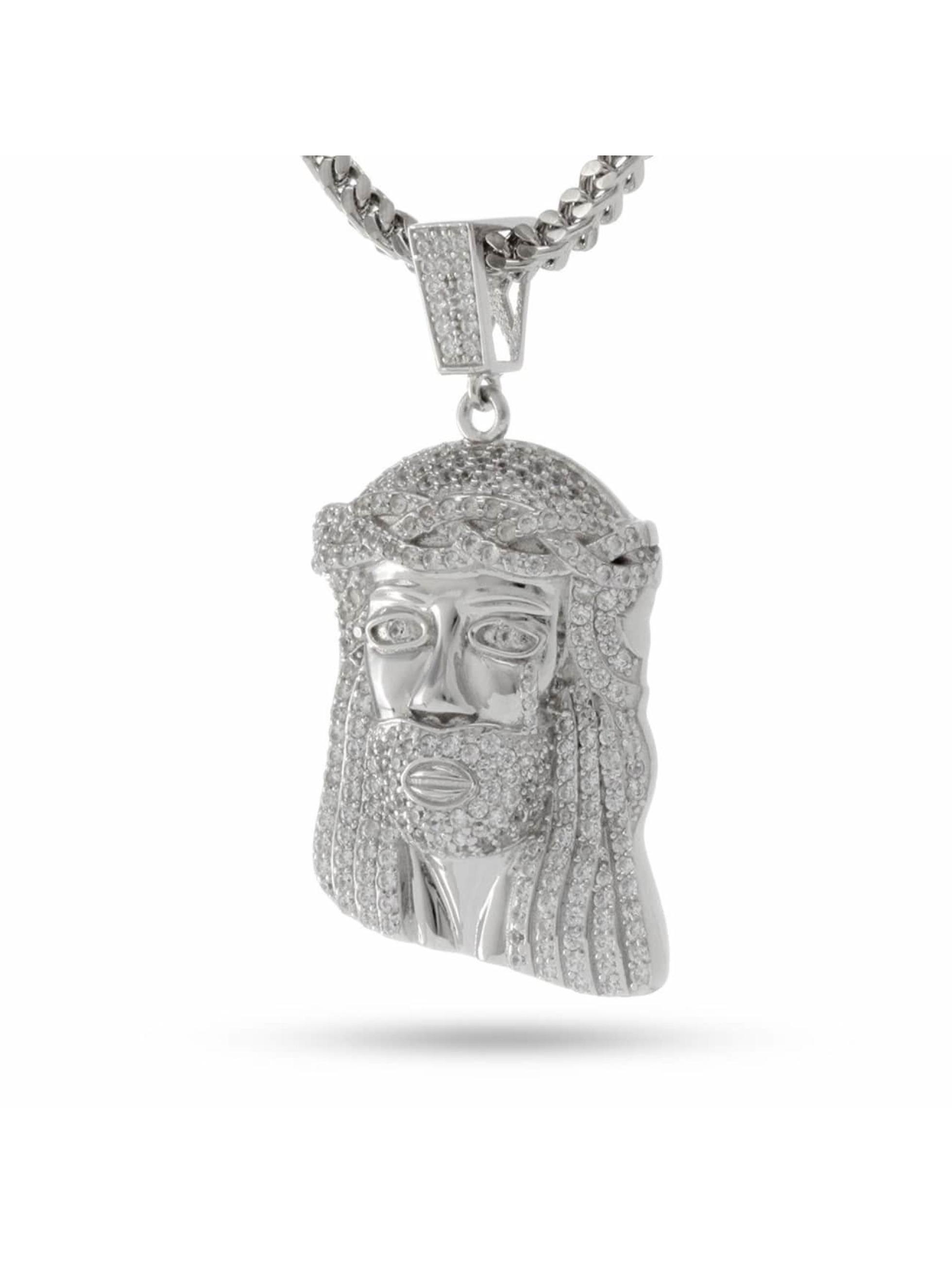 KING ICE Łańcuchy Jesus Tear srebrny
