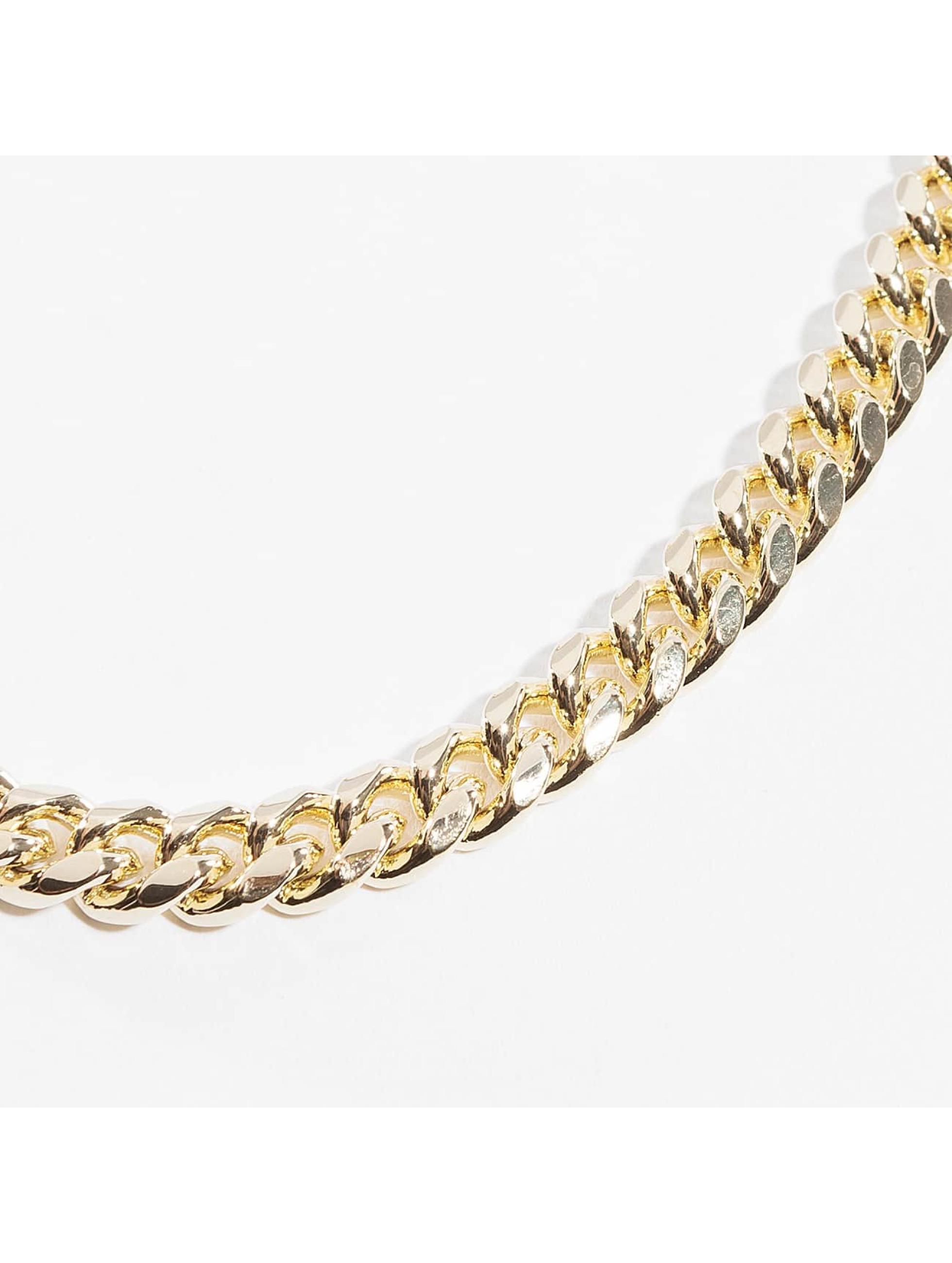 KING ICE Łańcuchy Miami Cuban Curb Chains zloty