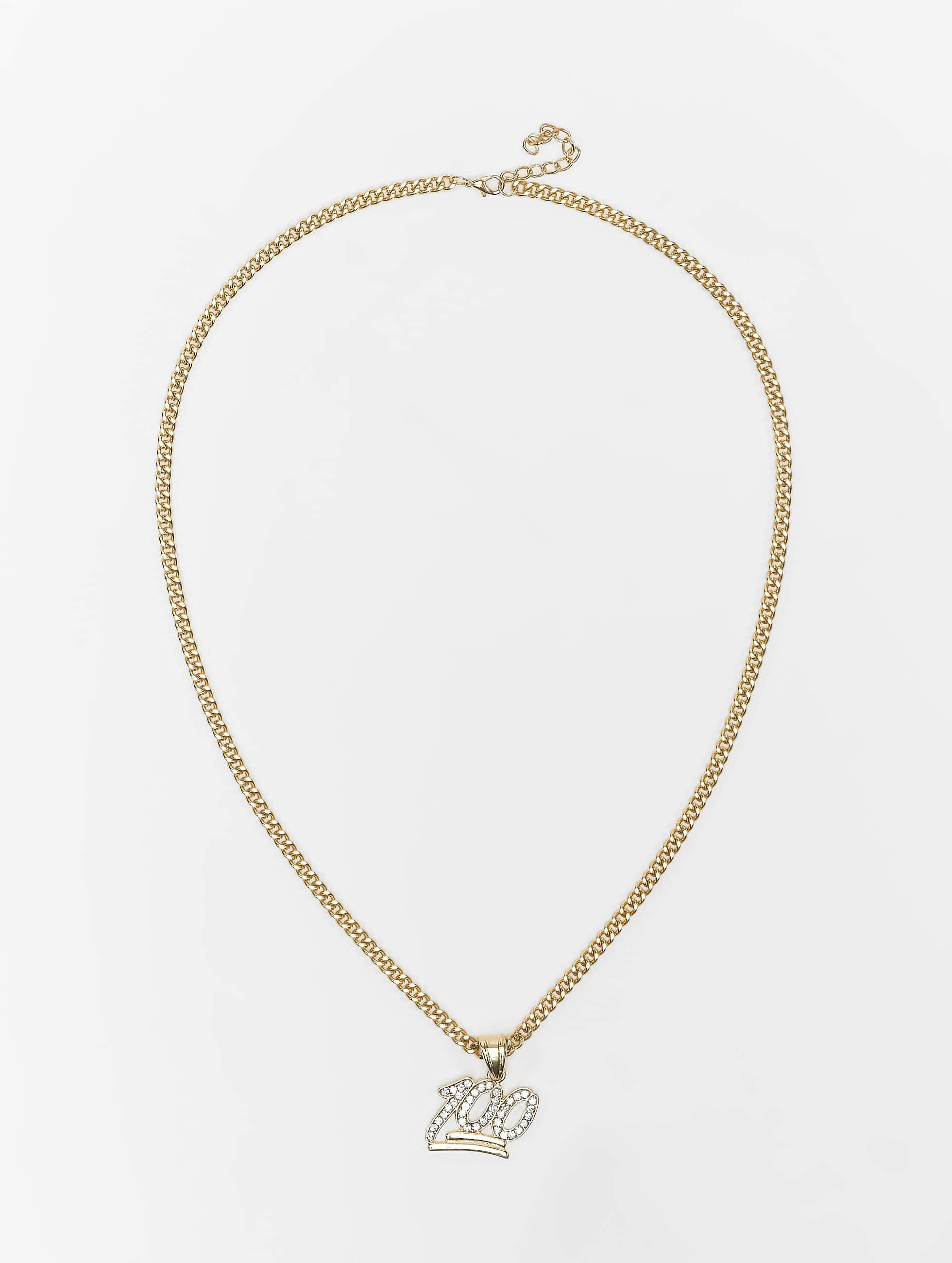 KING ICE Цепочка 100 Points Emoji золото