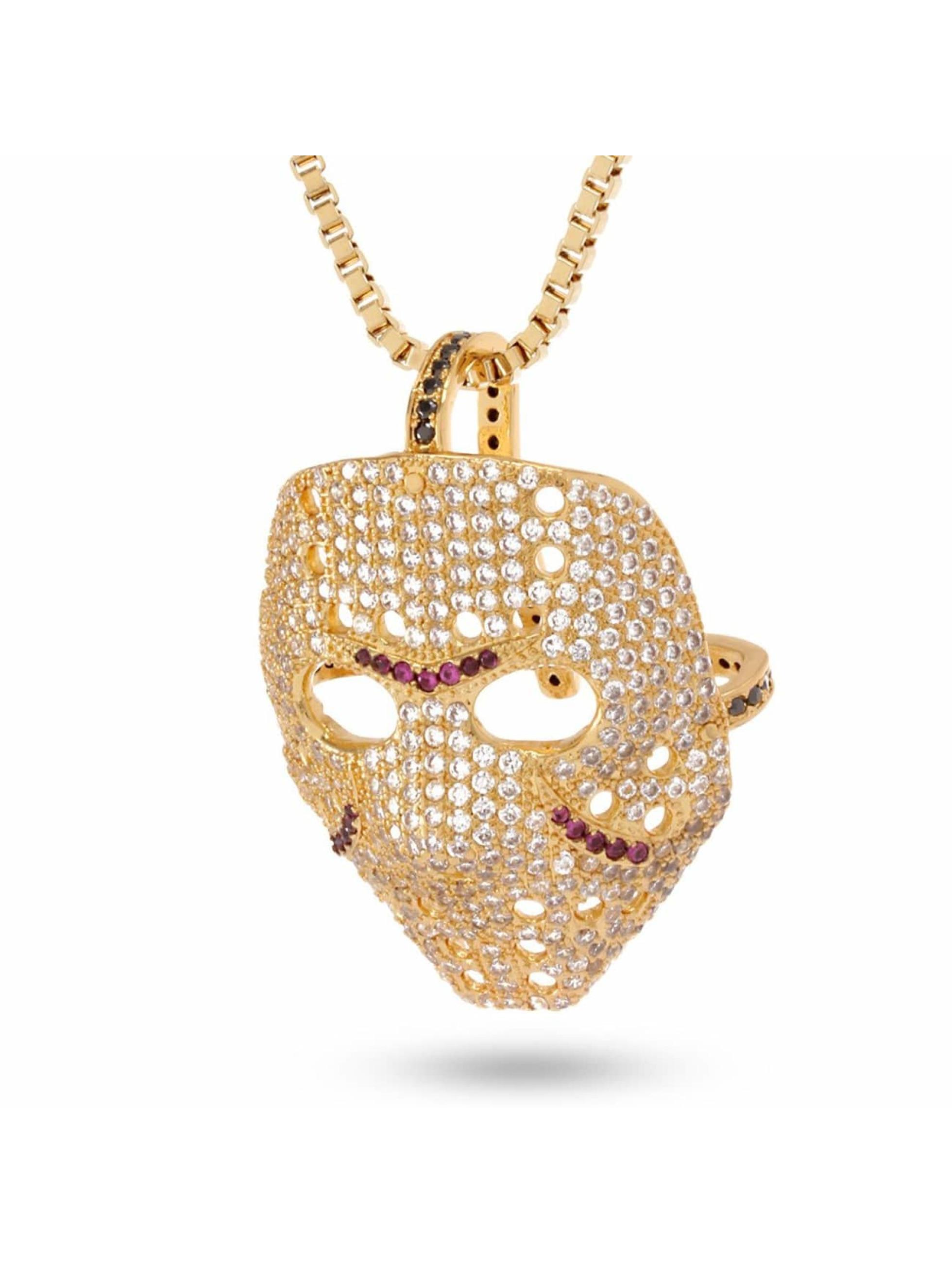 KING ICE Цепочка Small Hockey Mask золото