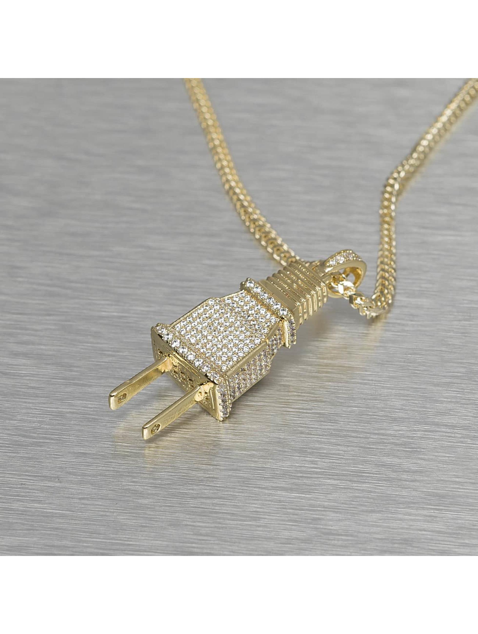 KING ICE Цепочка Plug золото