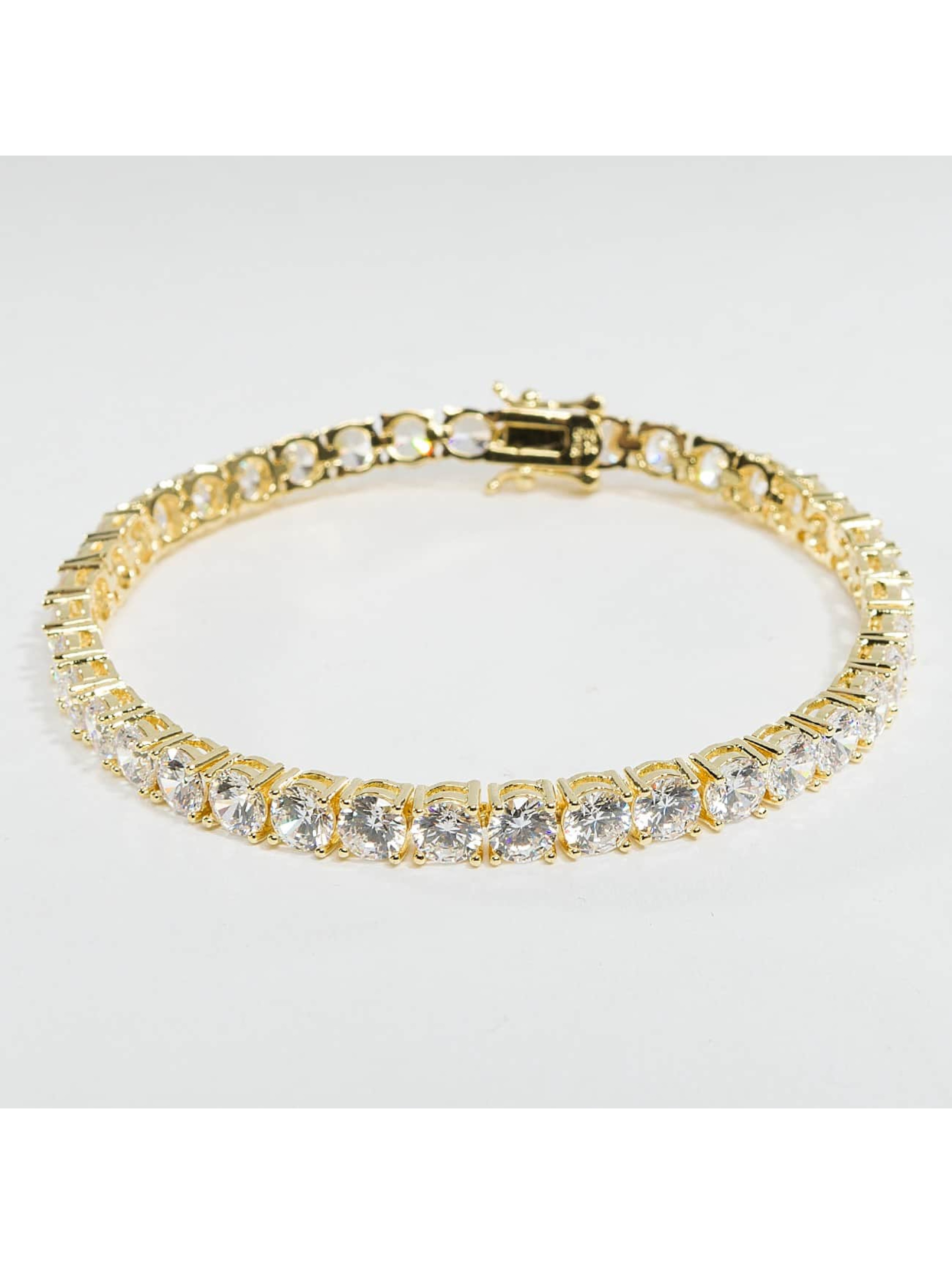KING ICE Armband Gold_Plated 5mm Single Row goldfarben
