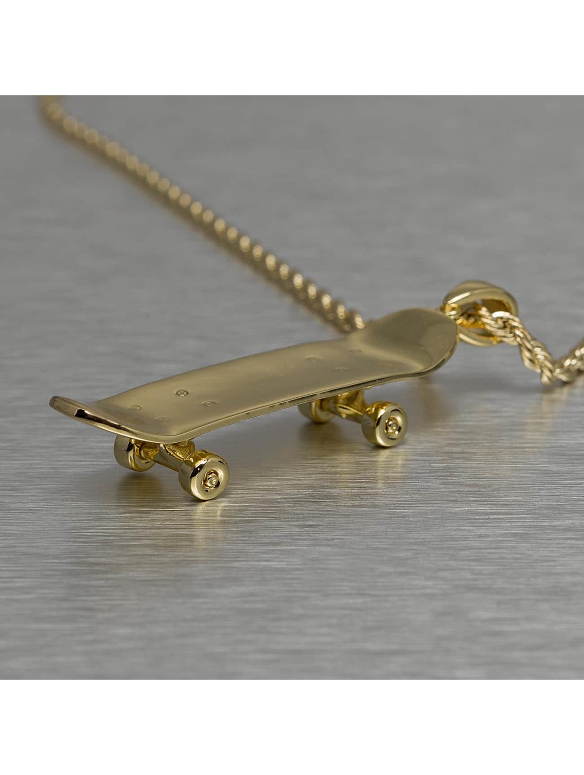 KING ICE Cadena Solid Skateboard oro