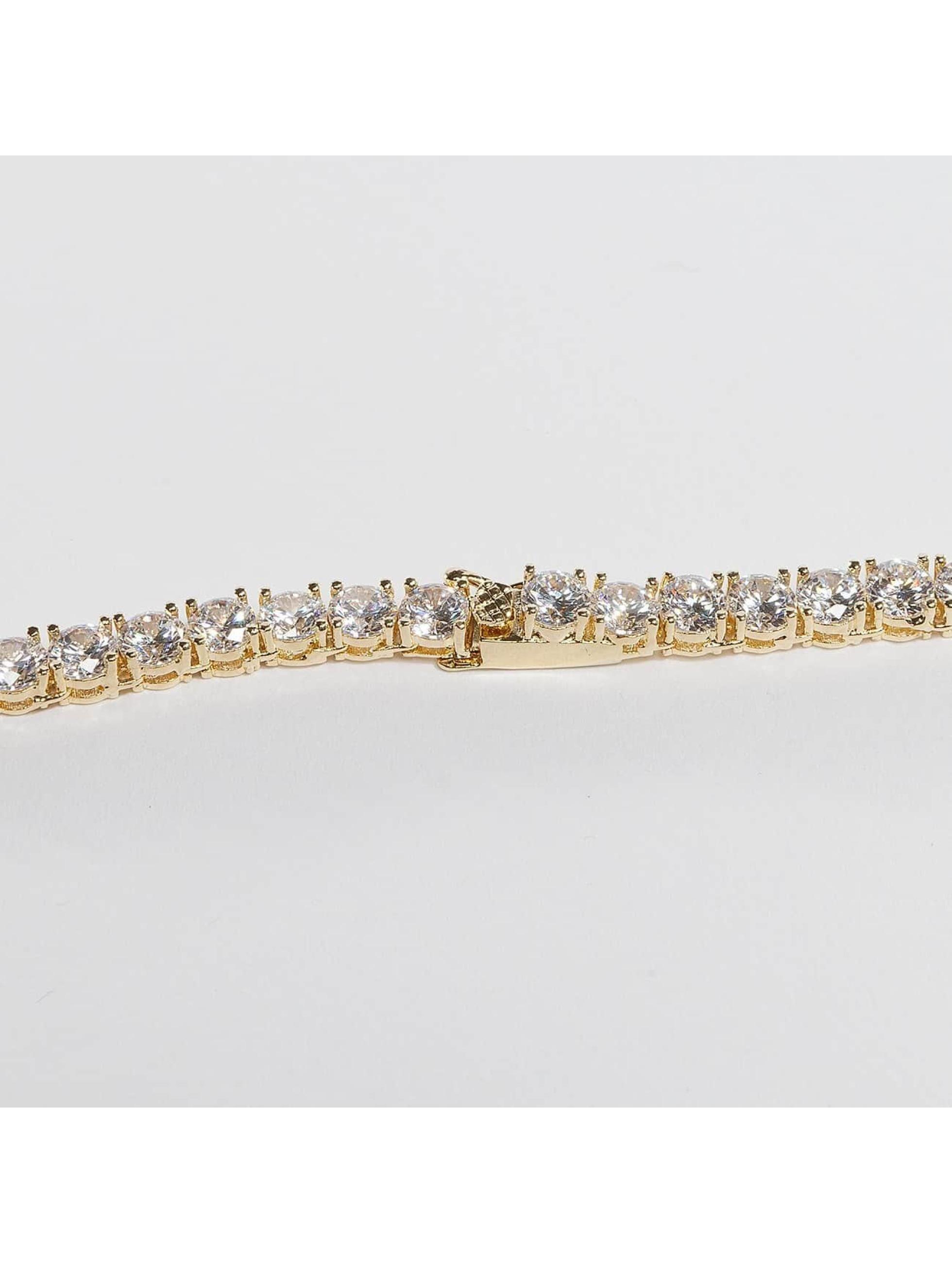 KING ICE Cadena Gold_Plated 5mm Single Row CZ Pharaoh oro