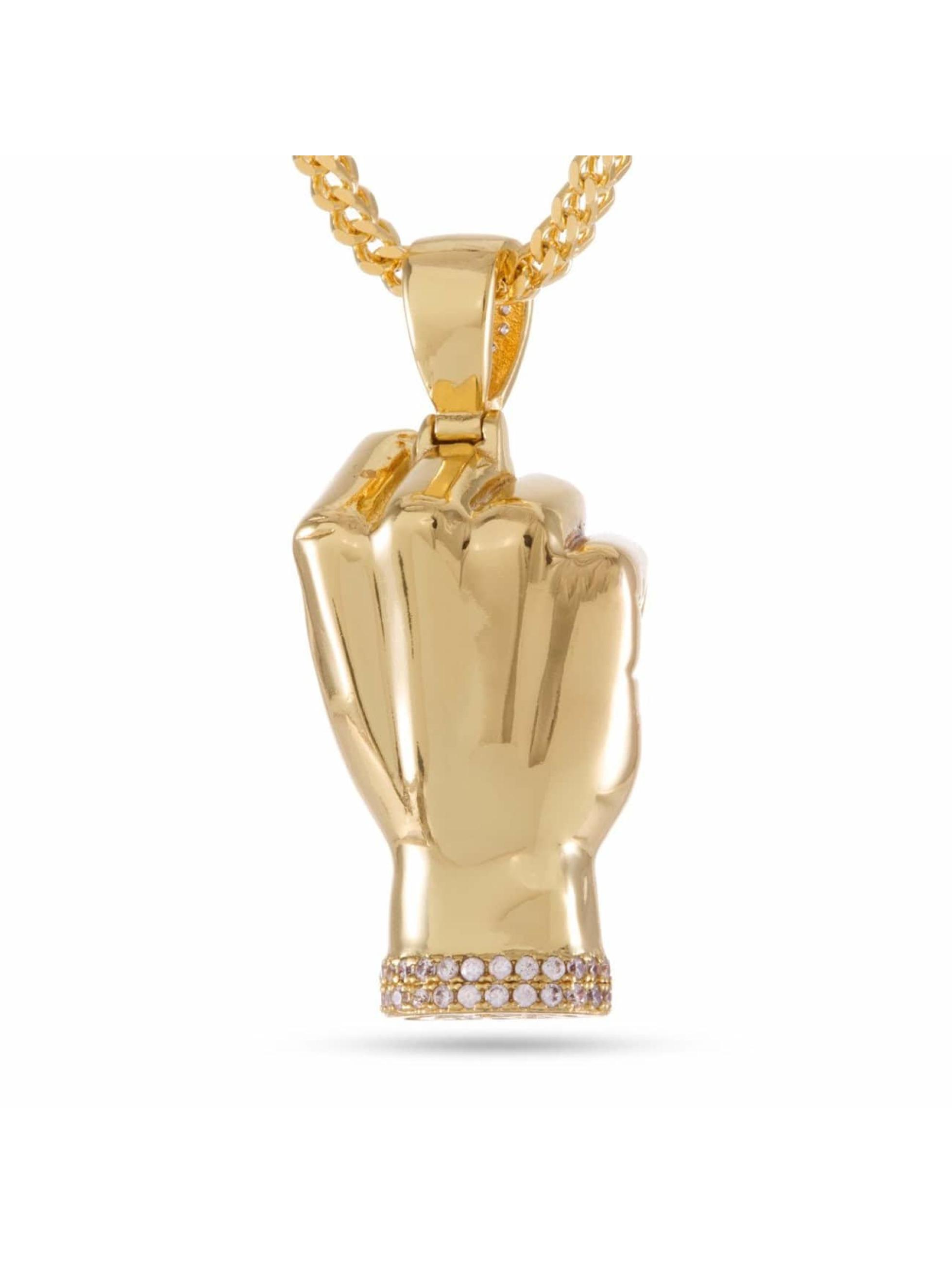 KING ICE Cadena JUNGL JULZ Gold_Plated CZ Power oro