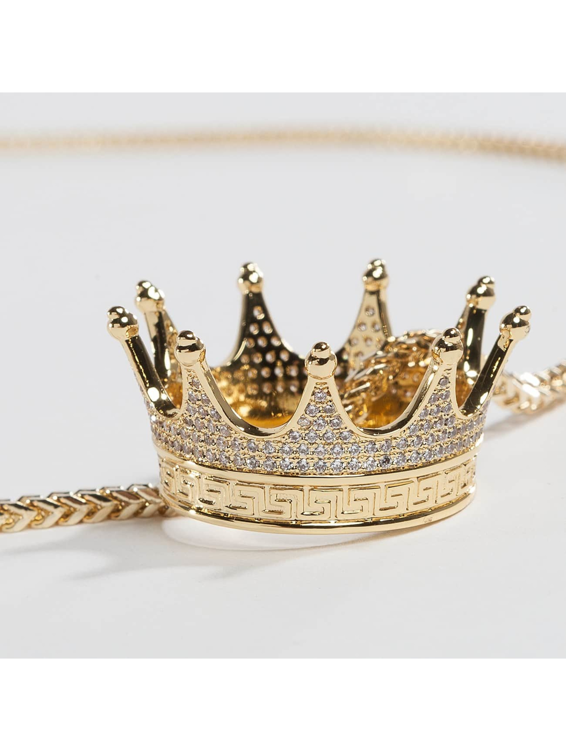 KING ICE Cadena EMPIRE FOX Gold_Plated CZ Small Lucious Lyon oro