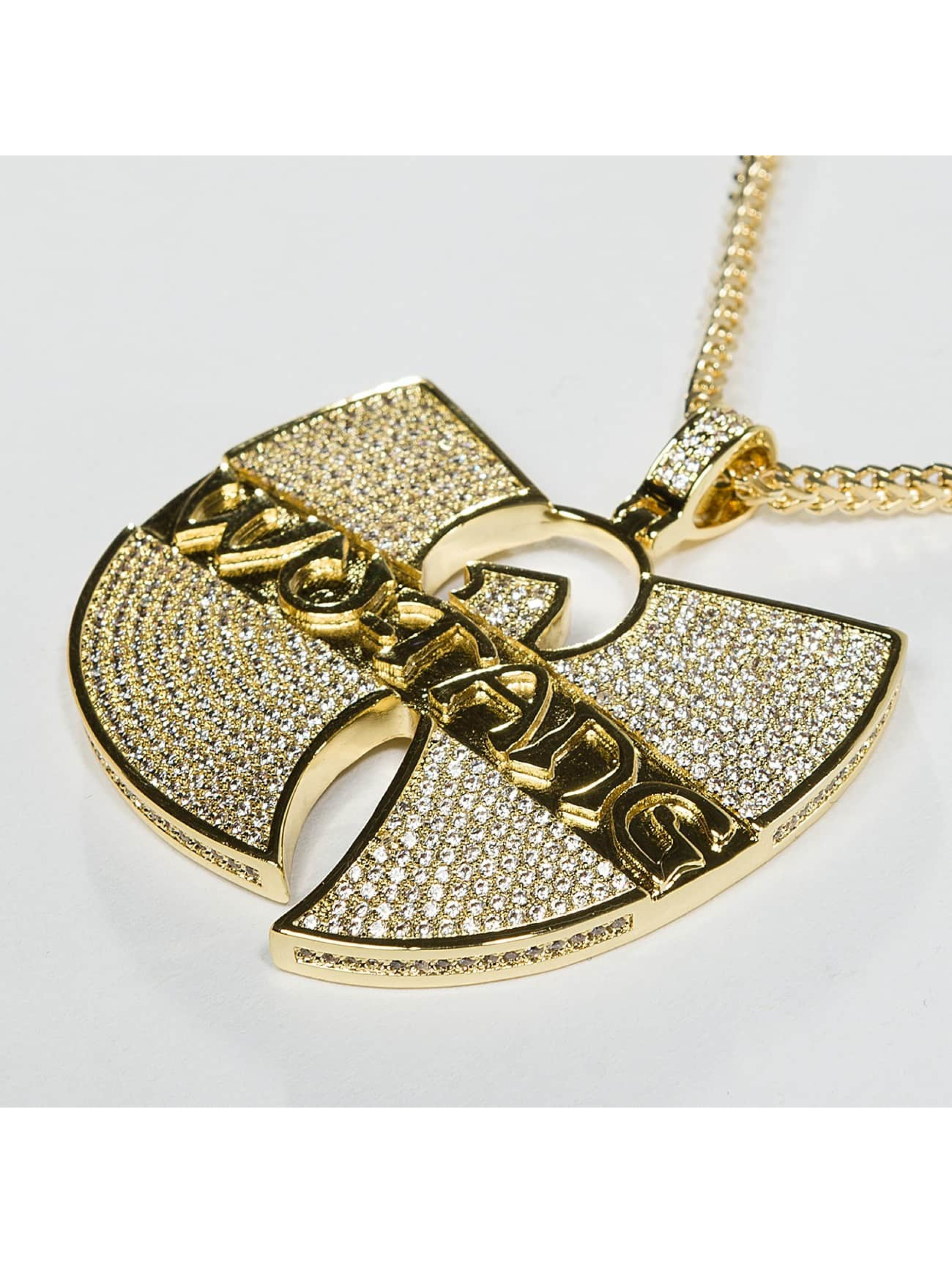 KING ICE Cadena WU-TANG CLAN Gold_Plated CZ The Forever oro