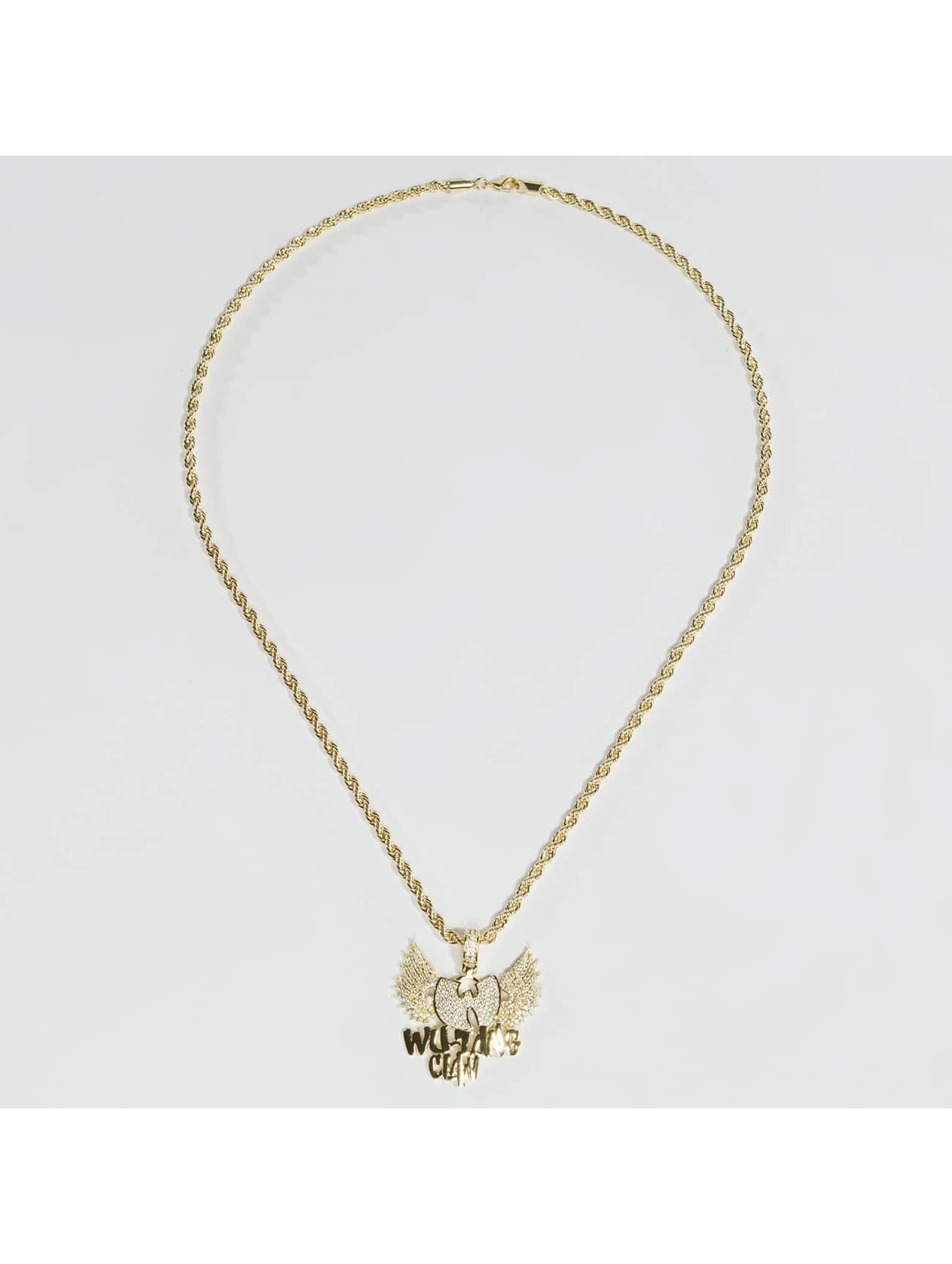 KING ICE Cadena WU-TANG CLAN Gold_Plated CZ The Protect Ya oro