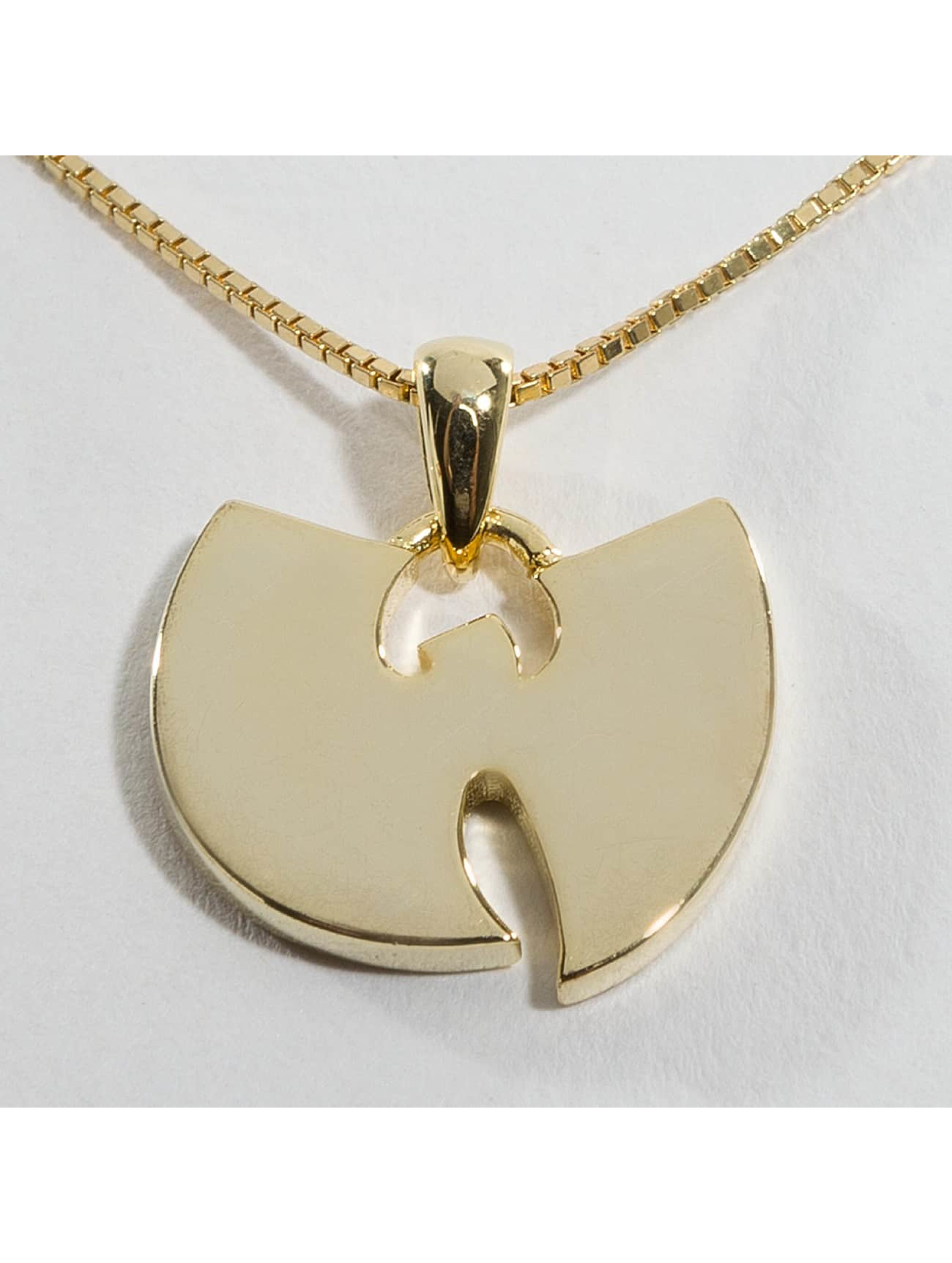 "KING ICE Cadena WU-TANG CLAN Gold_Plated 925 Sterling_Silver ""W"" oro"