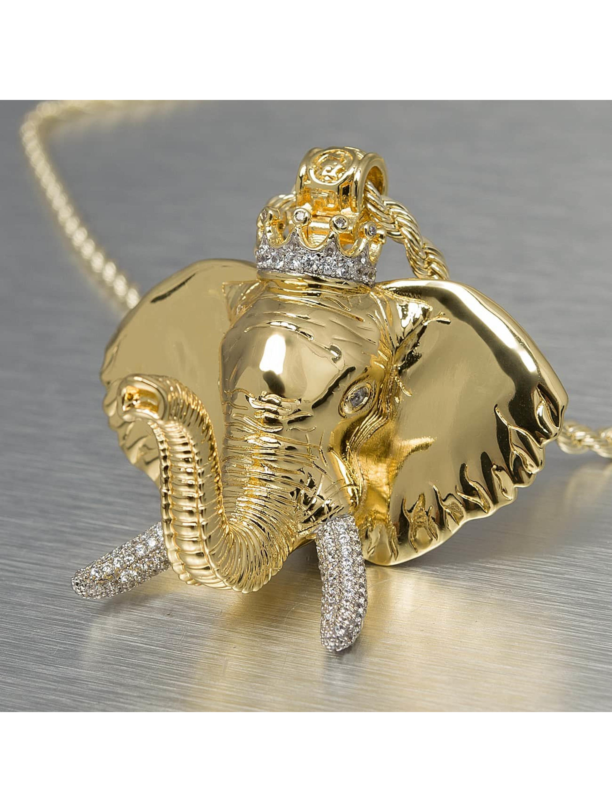 KING ICE Collier Jungl Julz Elephant or