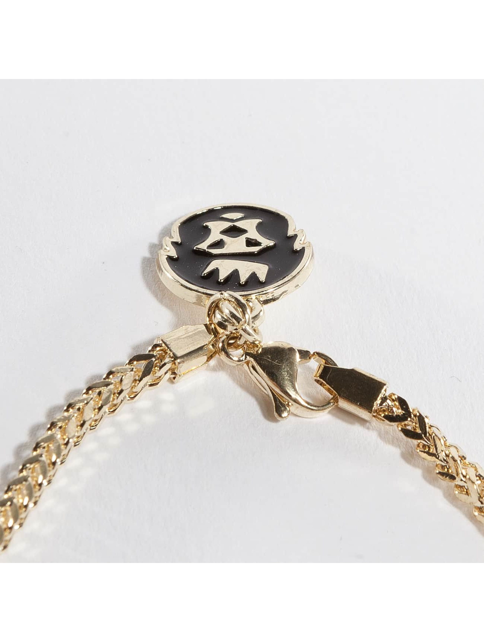 KING ICE Collier Gold_Plated CZ The Major Key or