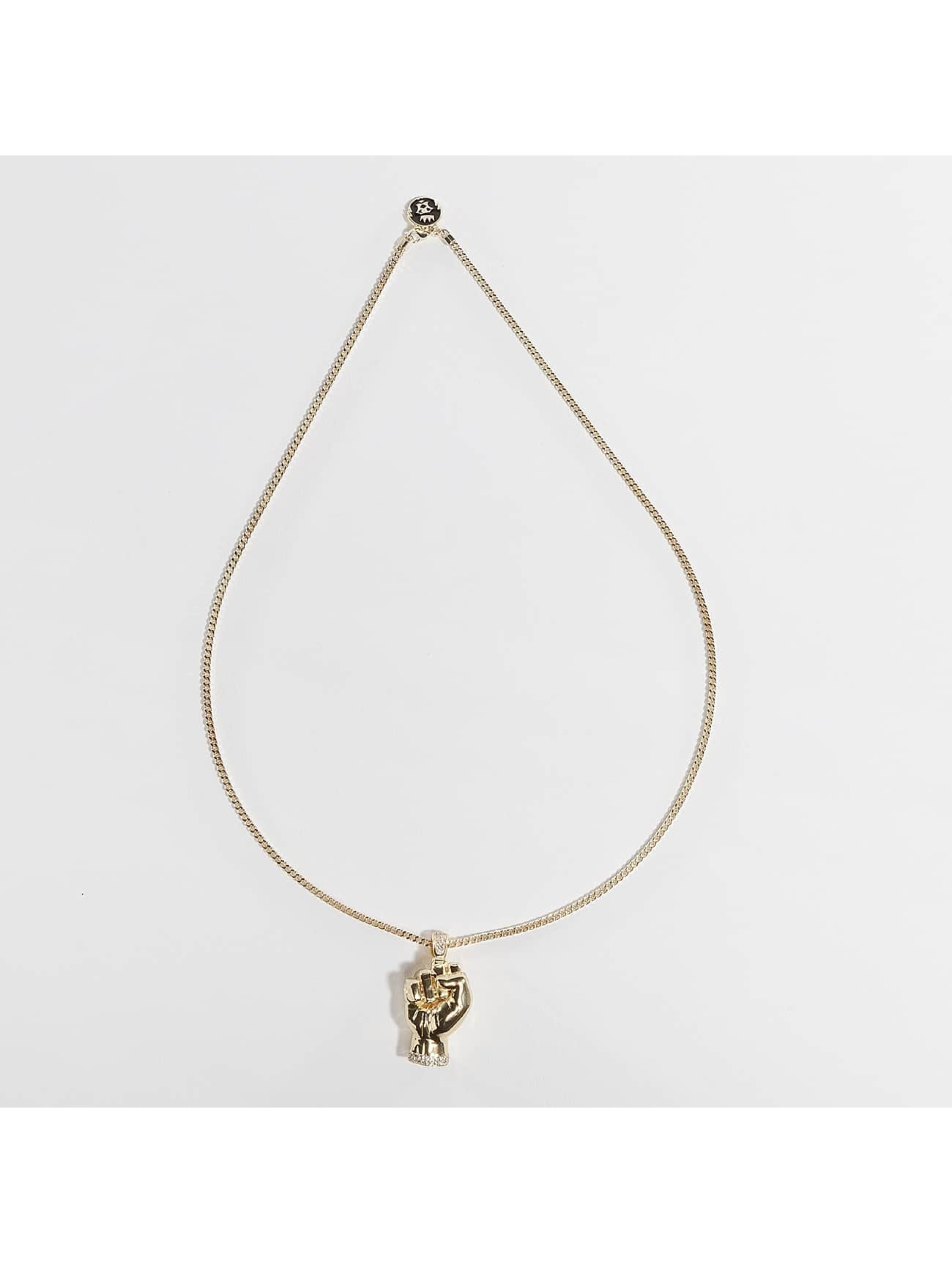 KING ICE Collier JUNGL JULZ Gold_Plated CZ Power or