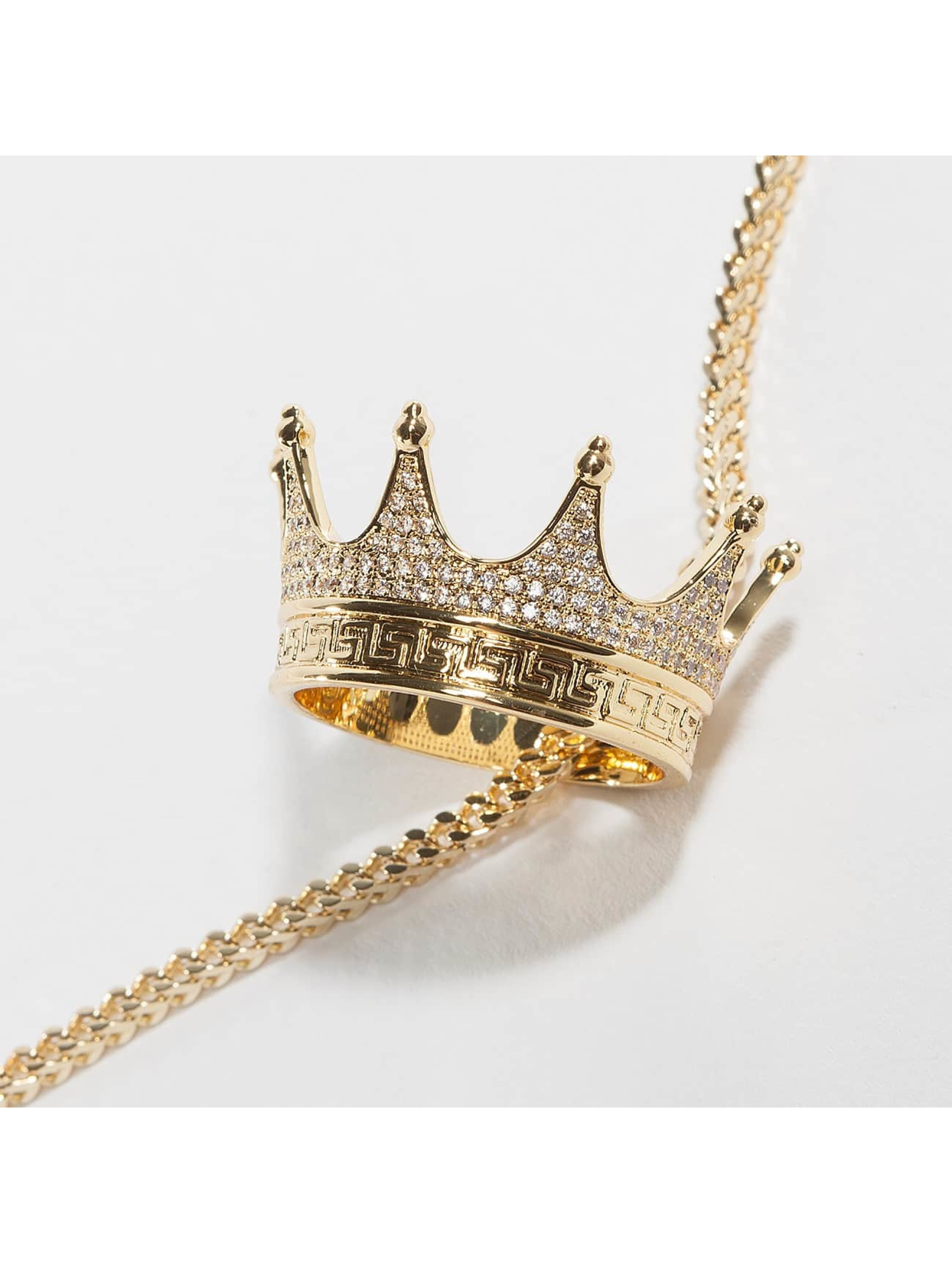 KING ICE Collier EMPIRE FOX Gold_Plated CZ Small Lucious Lyon or
