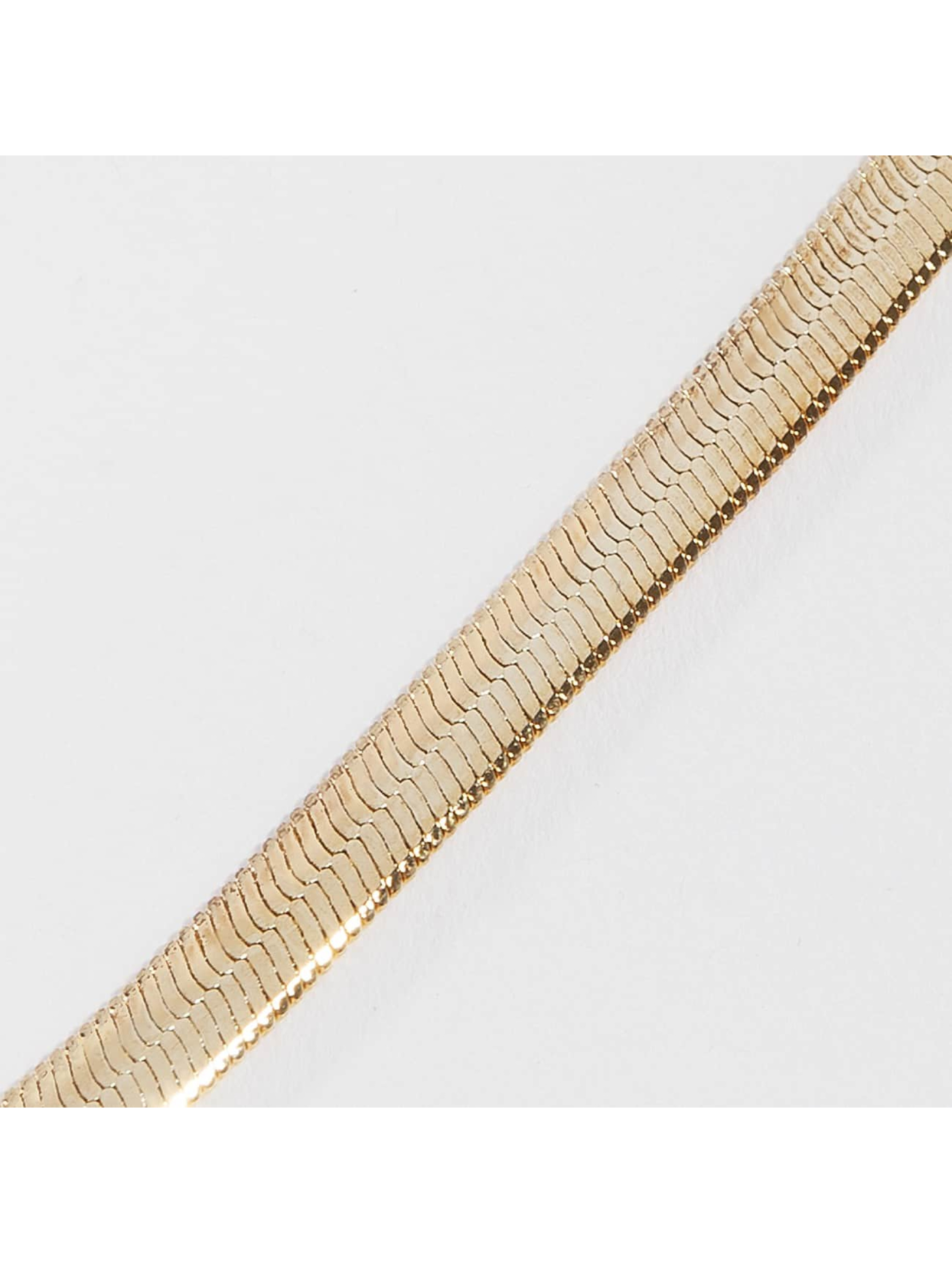 KING ICE Collier Gold_Plated 5mm Thin Herringbone or