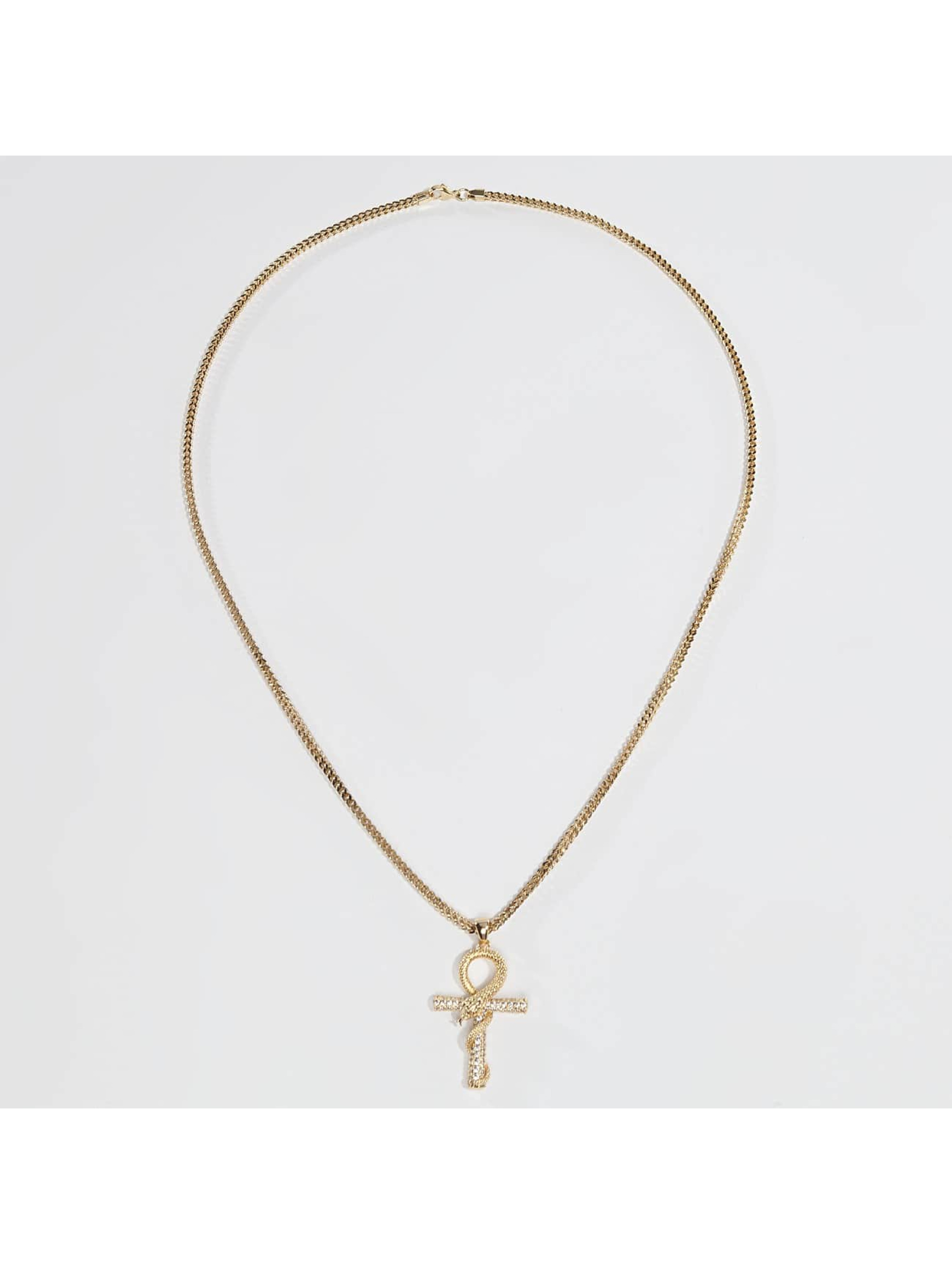 KING ICE Collier Gold_Plated The CZ Apep and Ankh or