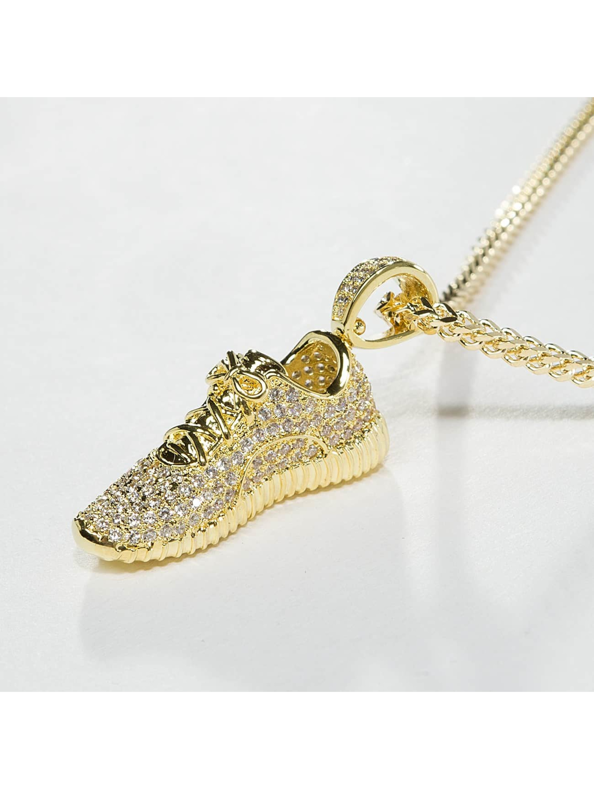 KING ICE Collier Gold_Plated CZ Lifestyle Sneaker or