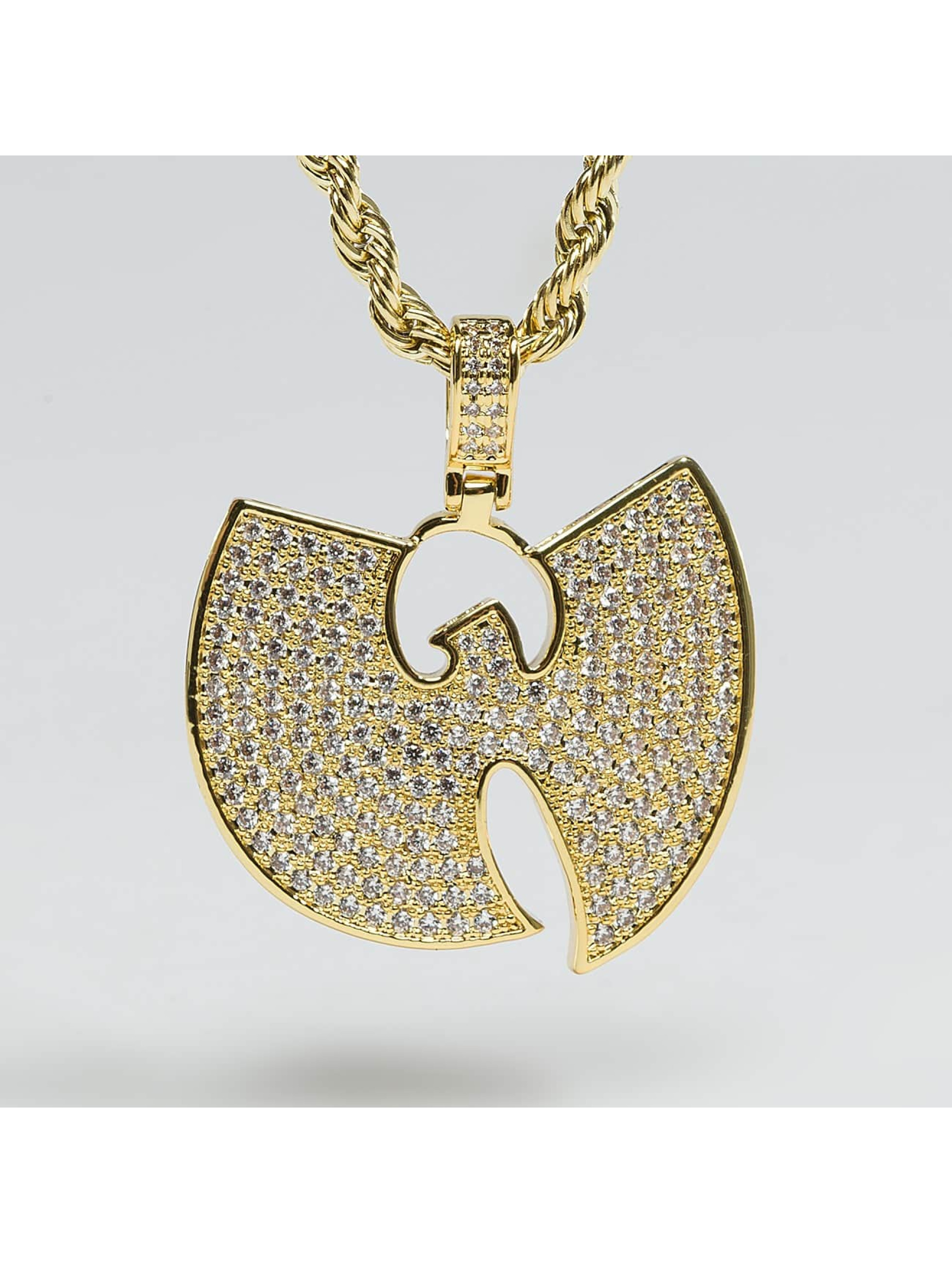 """KING ICE Collier WU-TANG CLAN Gold_Plated CZ The """"W"""" or"""