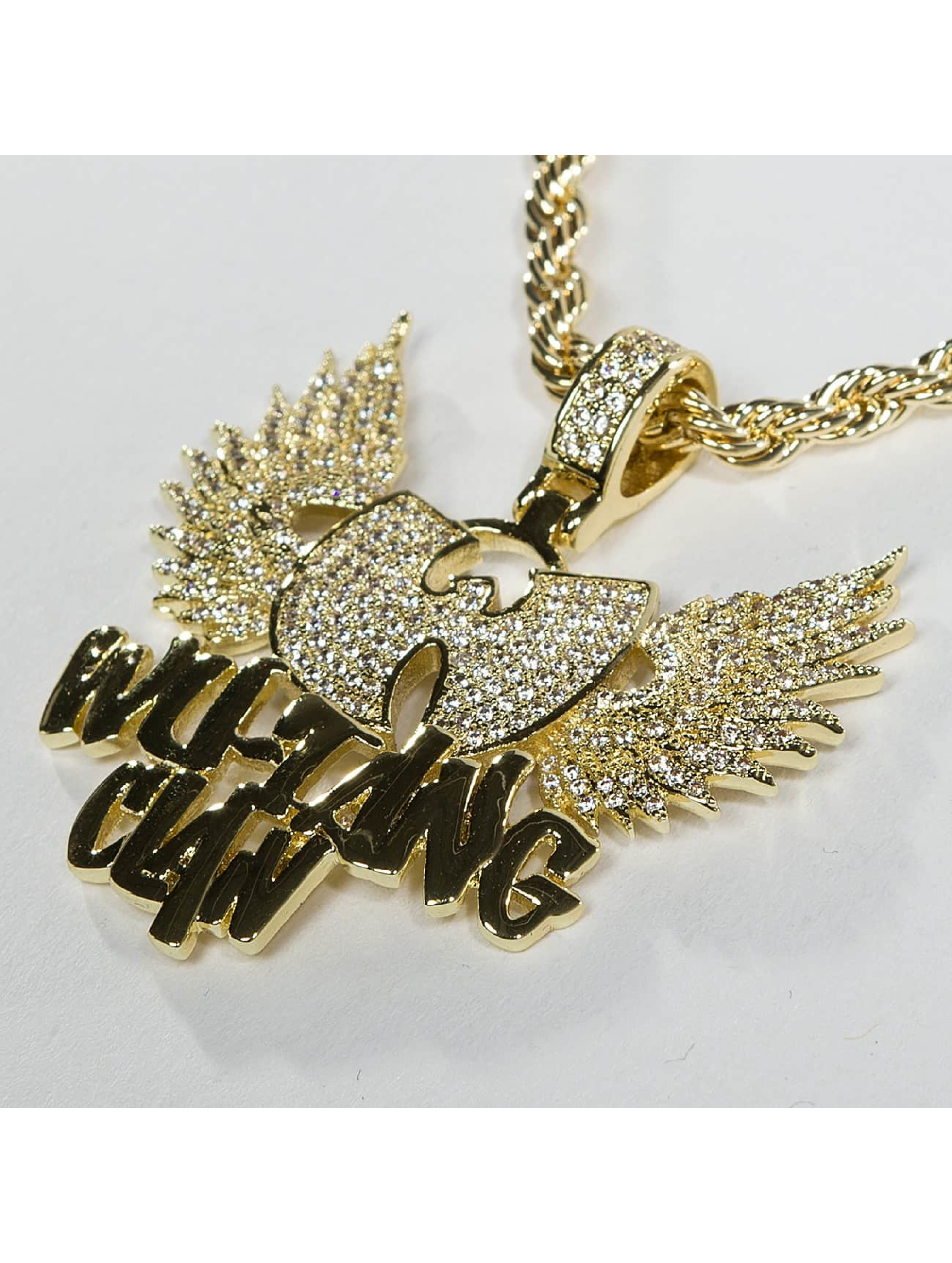 KING ICE Collier WU-TANG CLAN Gold_Plated CZ The Protect Ya or