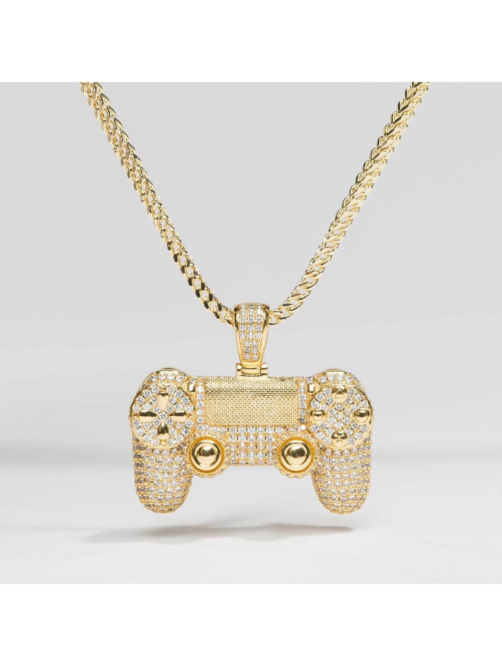 KING ICE Collier Gold_Plated CZ Pro Gamer Controller or