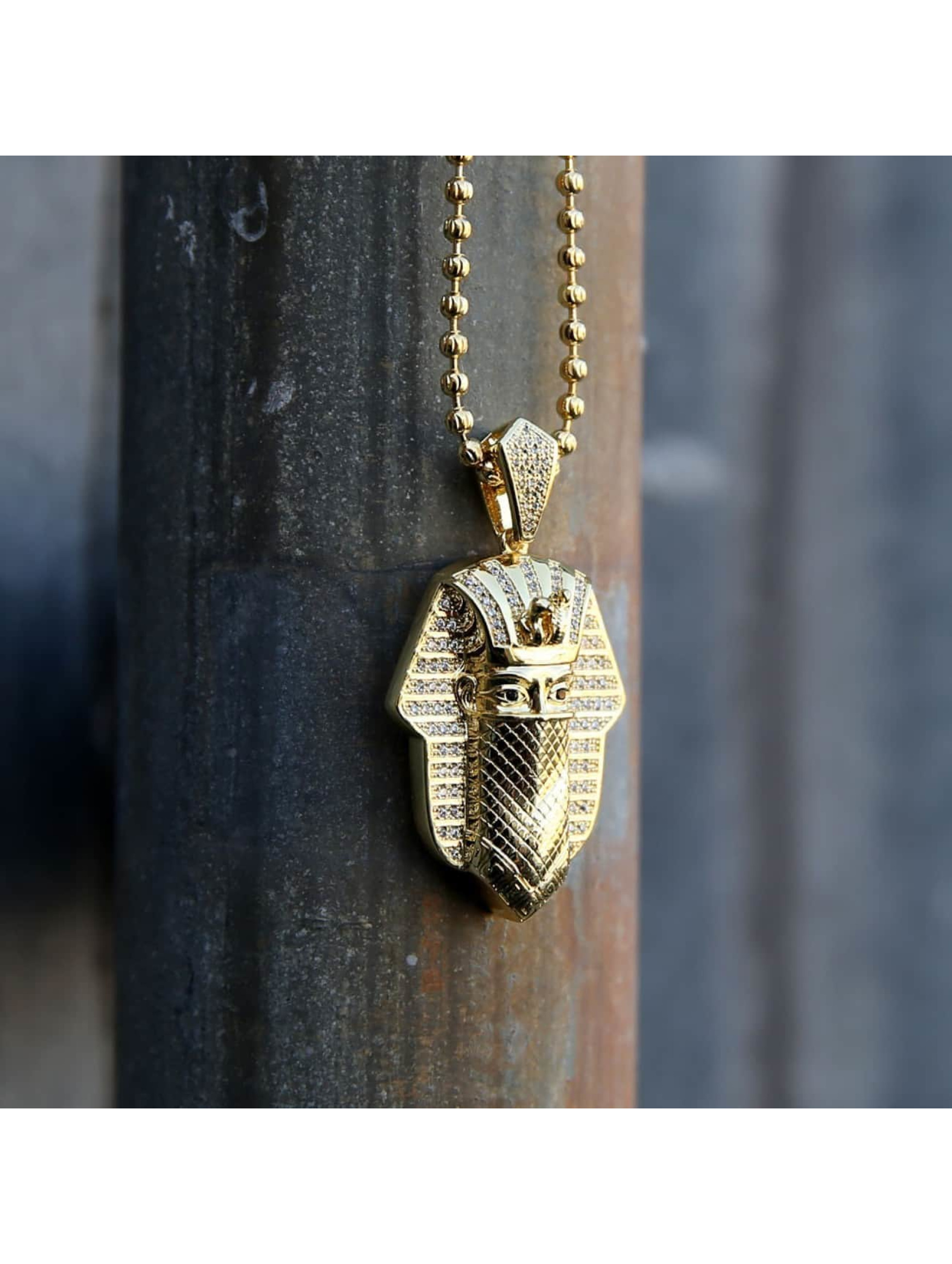 KING ICE Kette Bandana Pharaoh goldfarben
