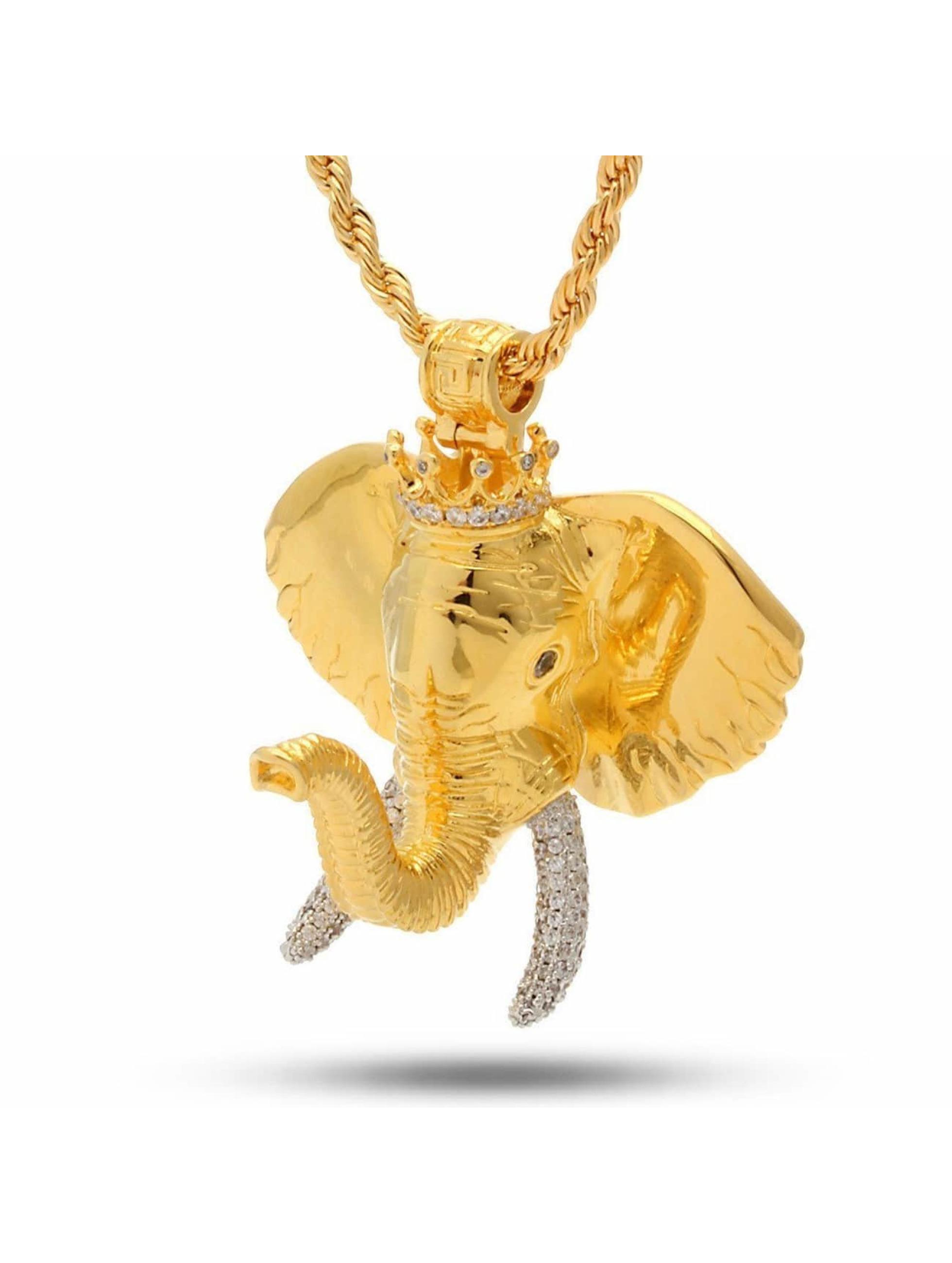 KING ICE Kette Jungl Julz Elephant goldfarben