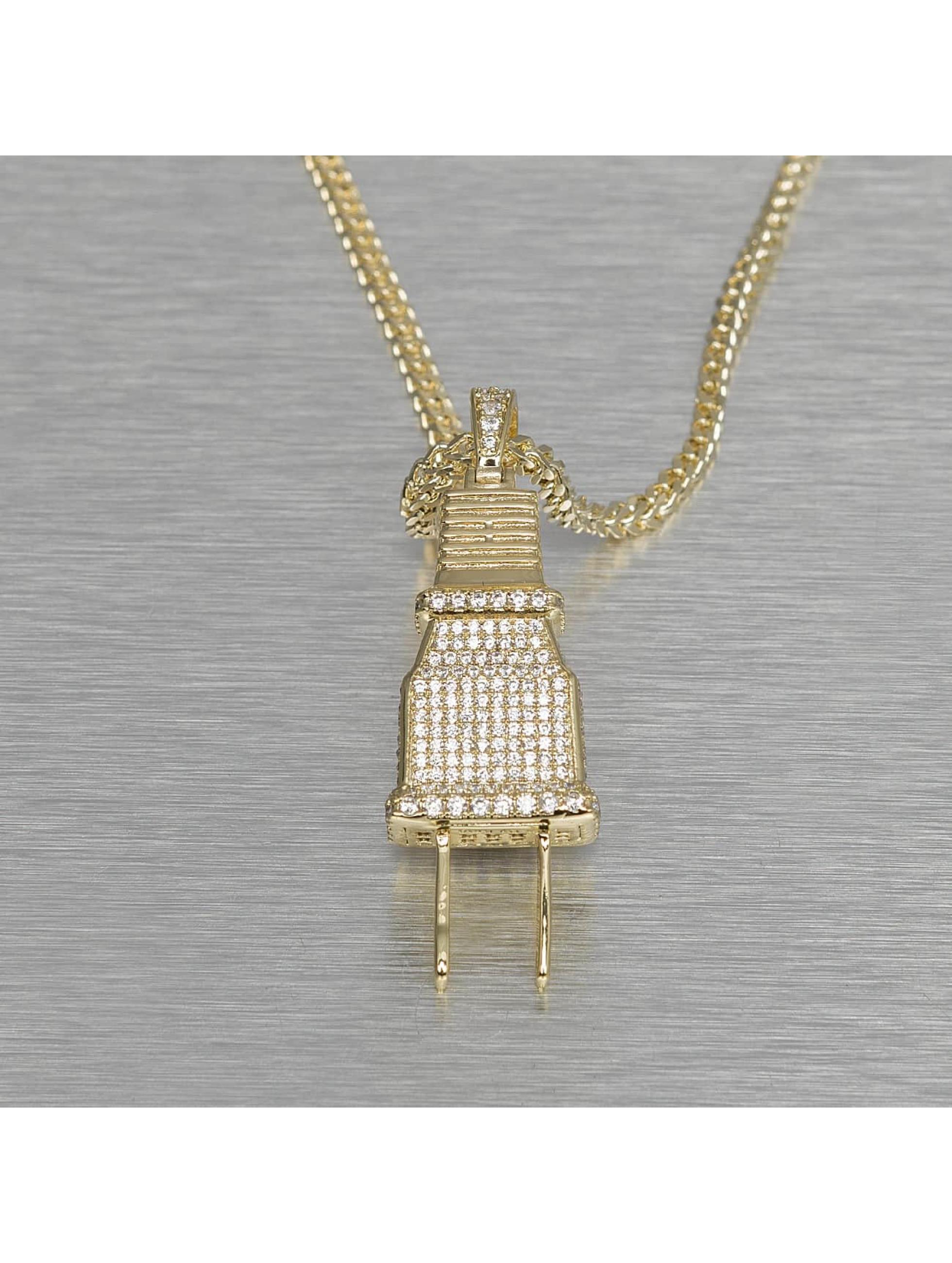 KING ICE Kette Plug goldfarben