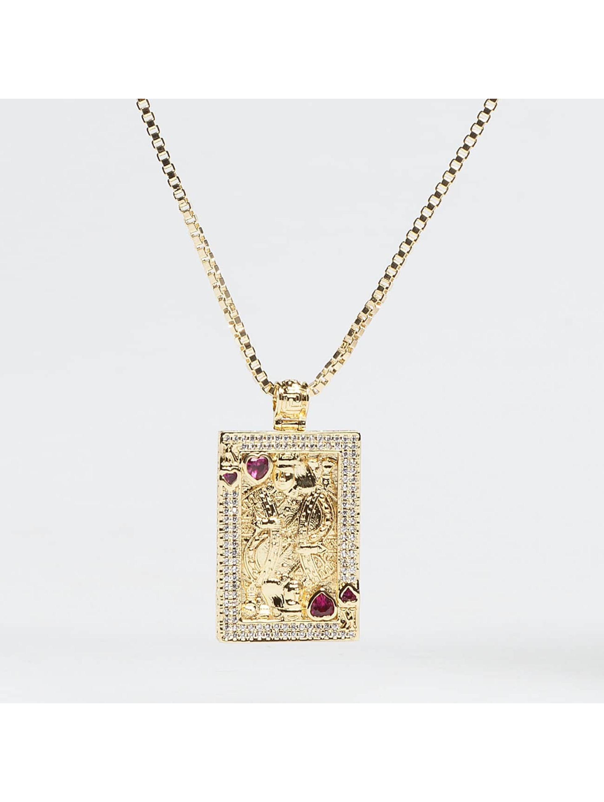 KING ICE Kette Gold_Plated CZ Suicide King goldfarben