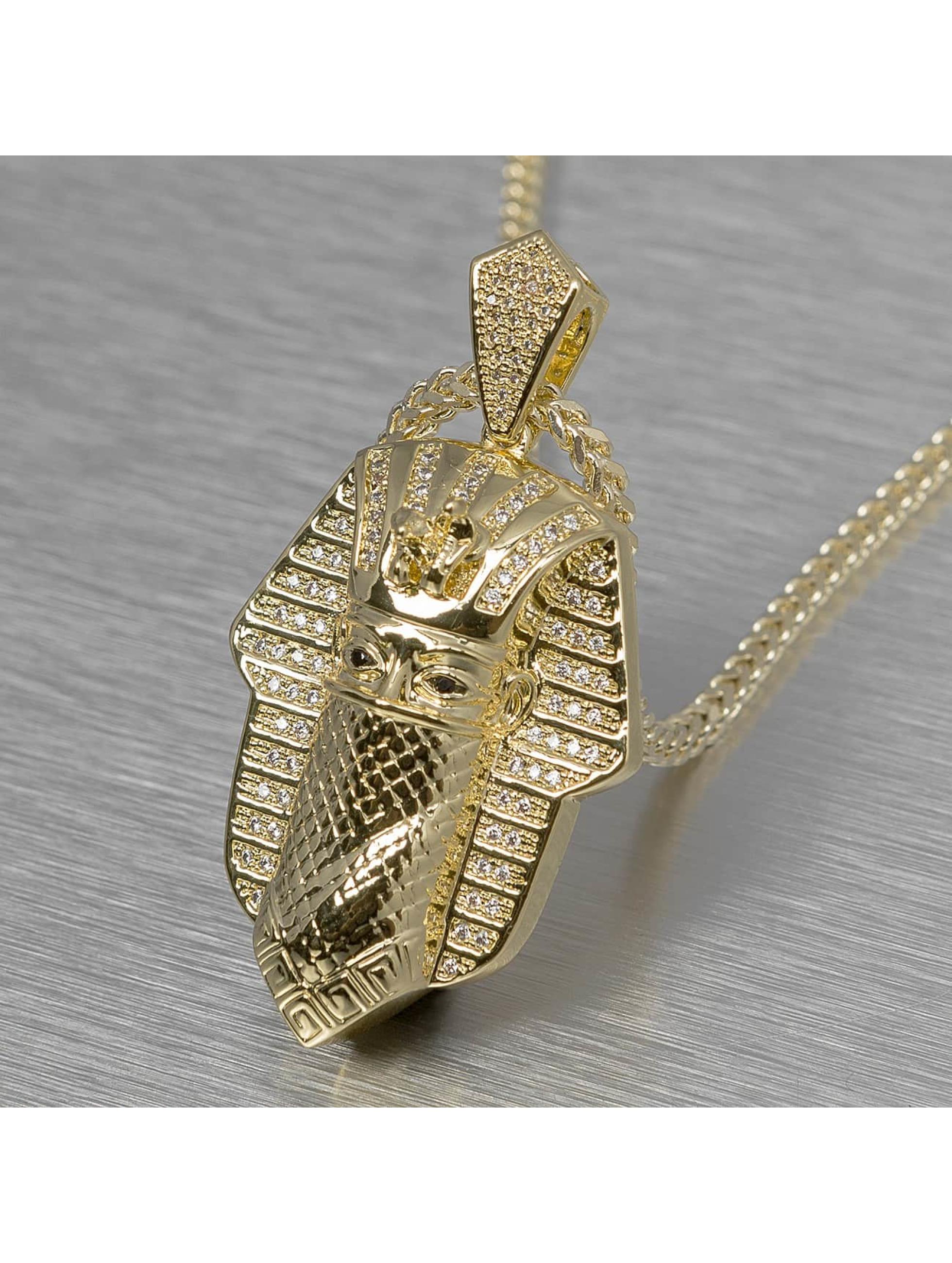 KING ICE ketting Bandana Pharaoh goud