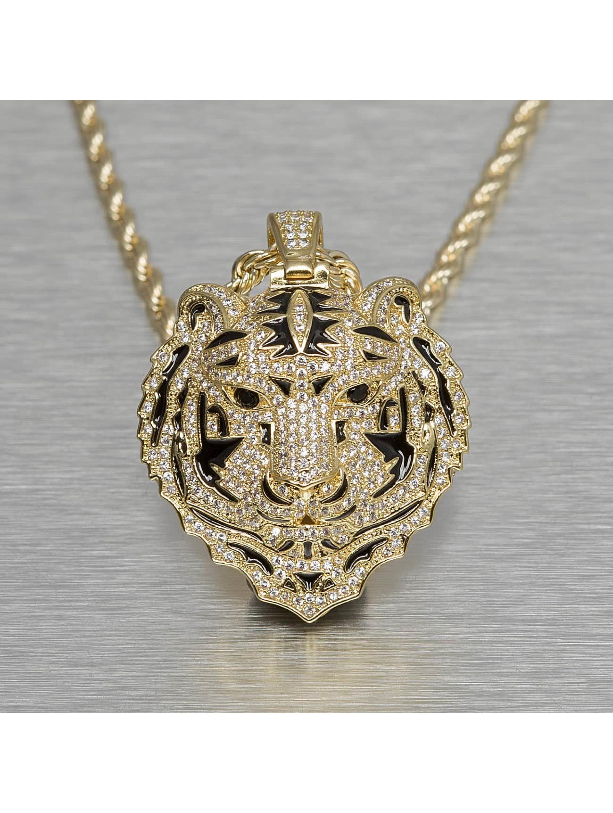 KING ICE ketting Jungl Julz Bengal Tiger goud