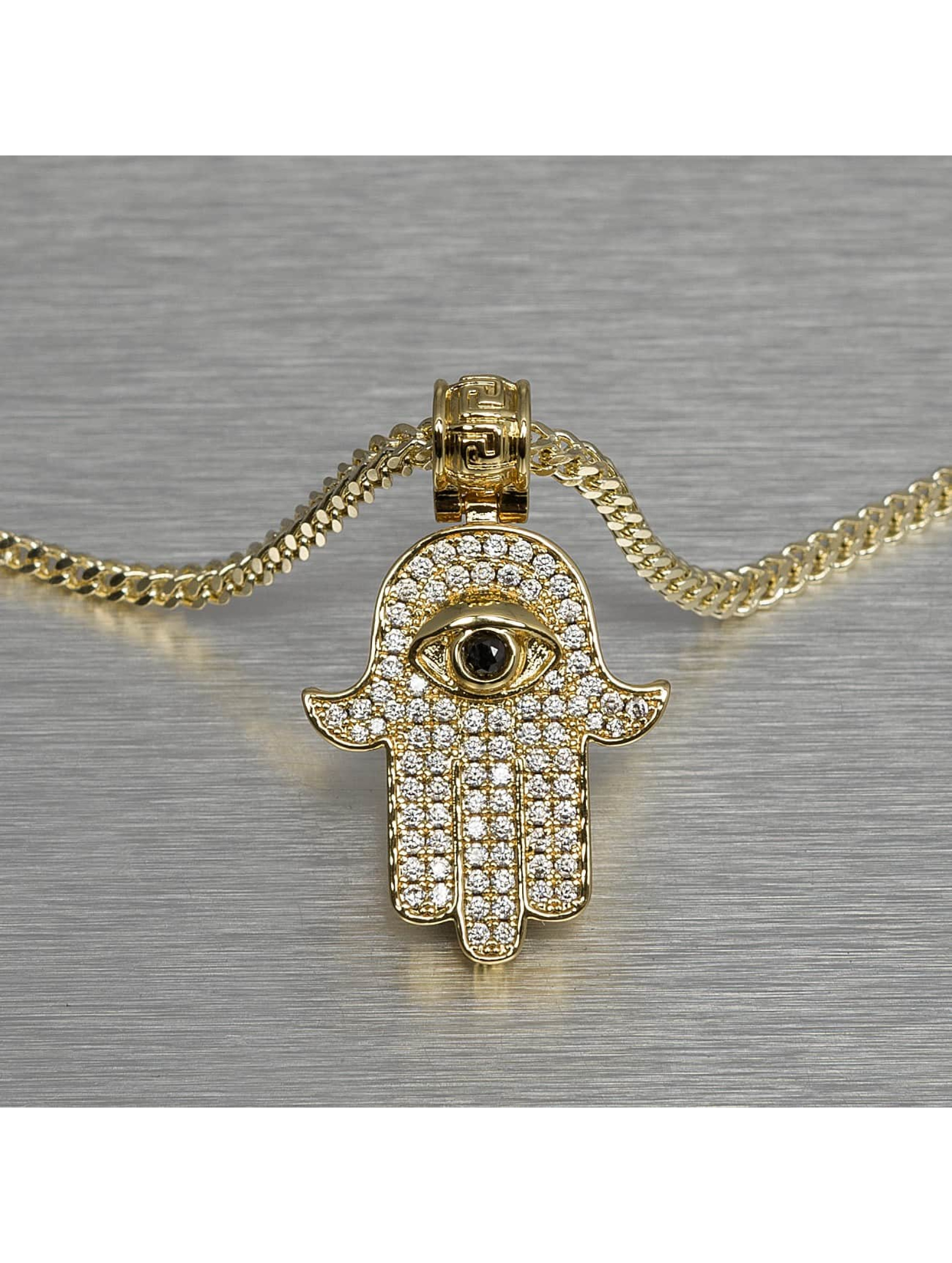 KING ICE ketting Hamsa goud