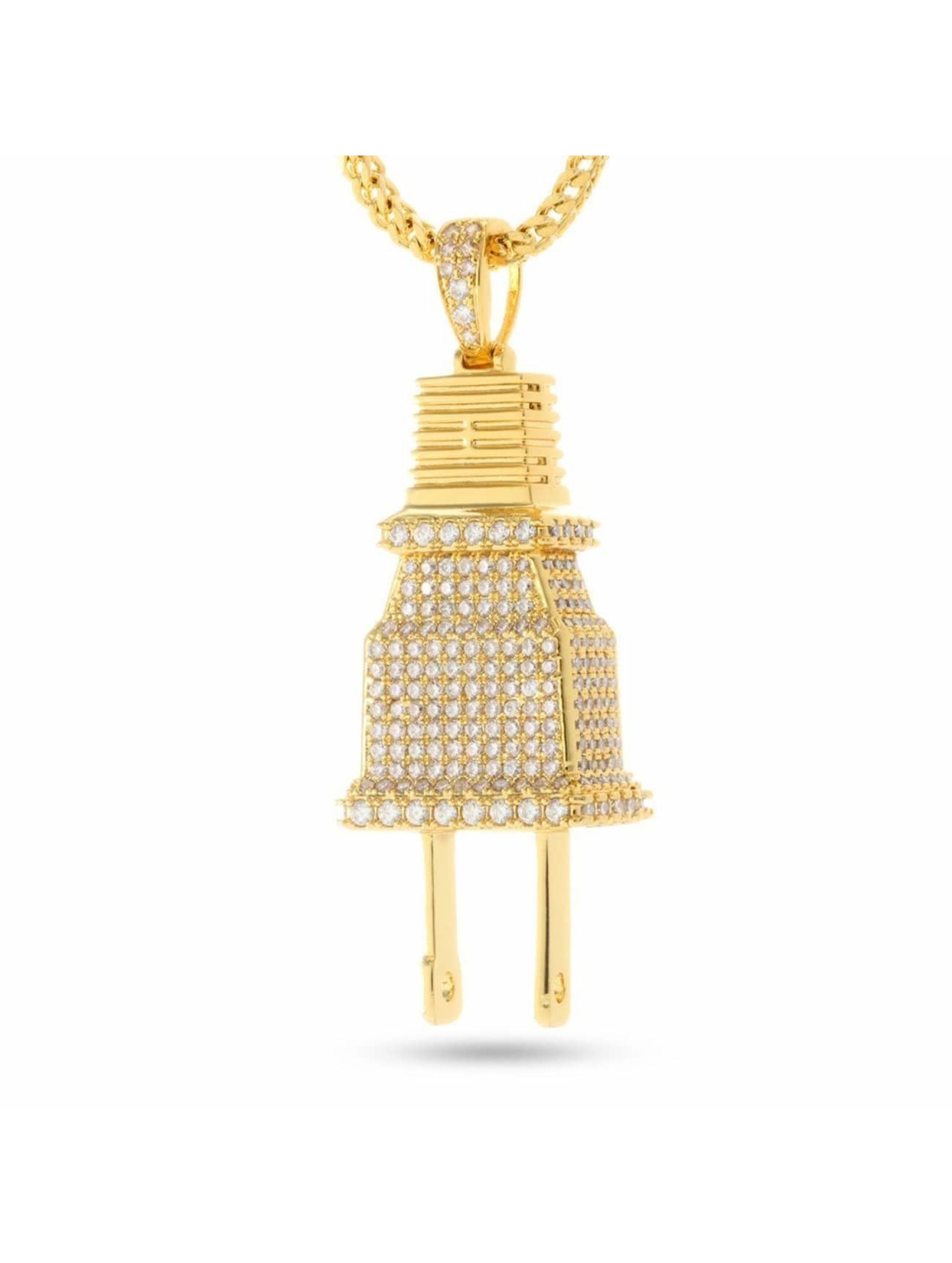KING ICE ketting Plug goud