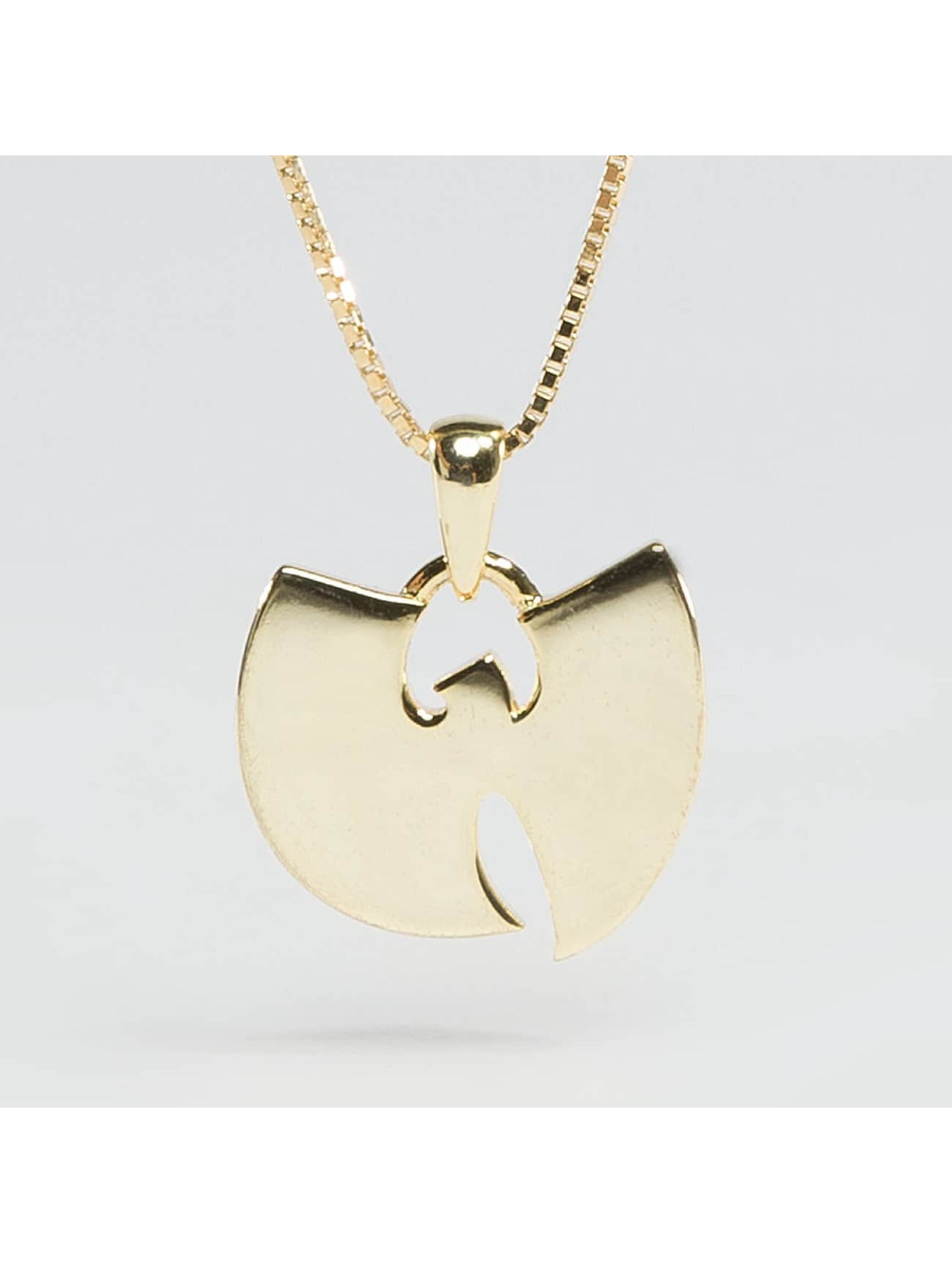 "KING ICE ketting WU-TANG CLAN Gold_Plated 925 Sterling_Silver ""W"" goud"