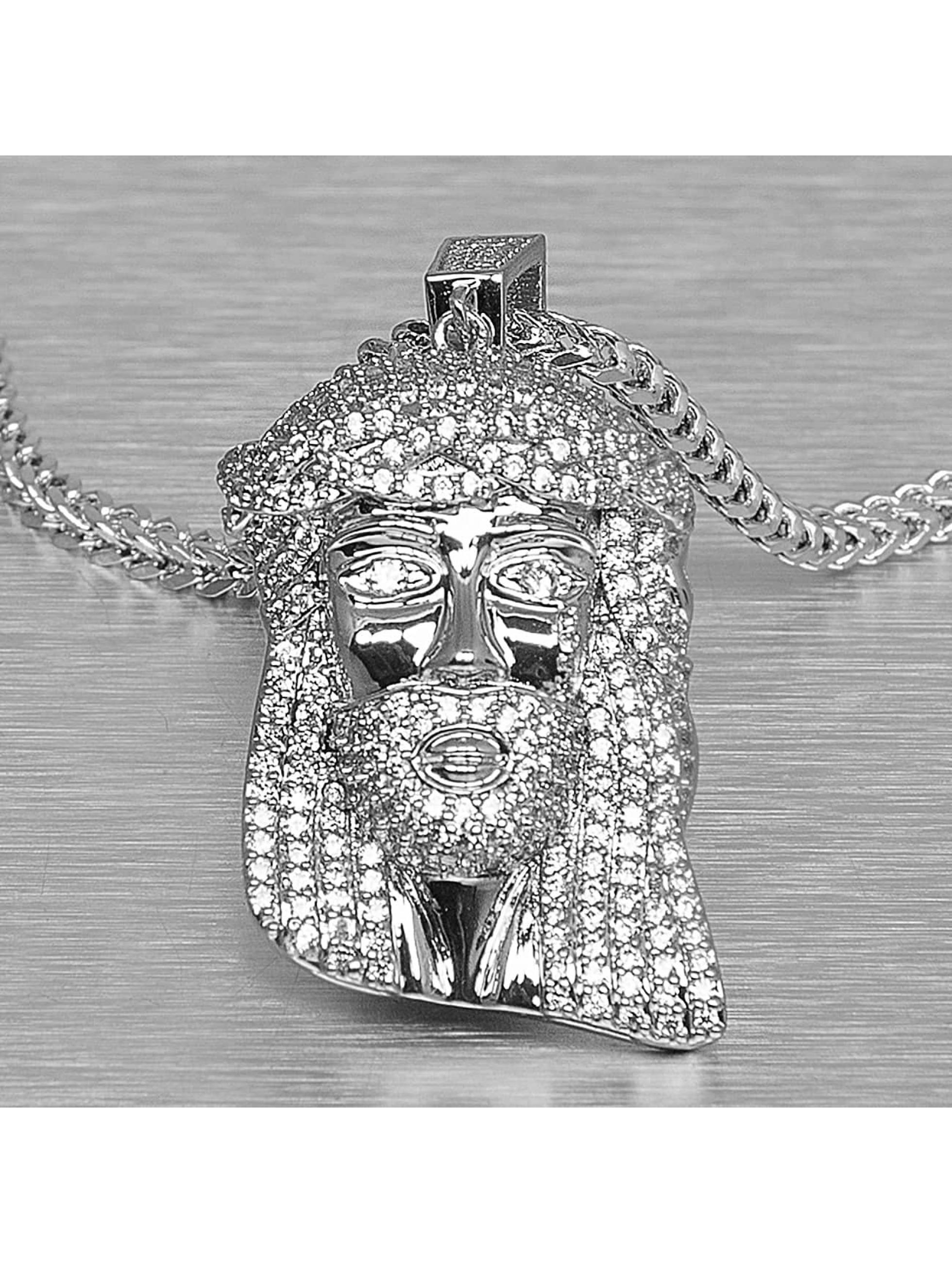 KING ICE ketting Jesus Tear zilver