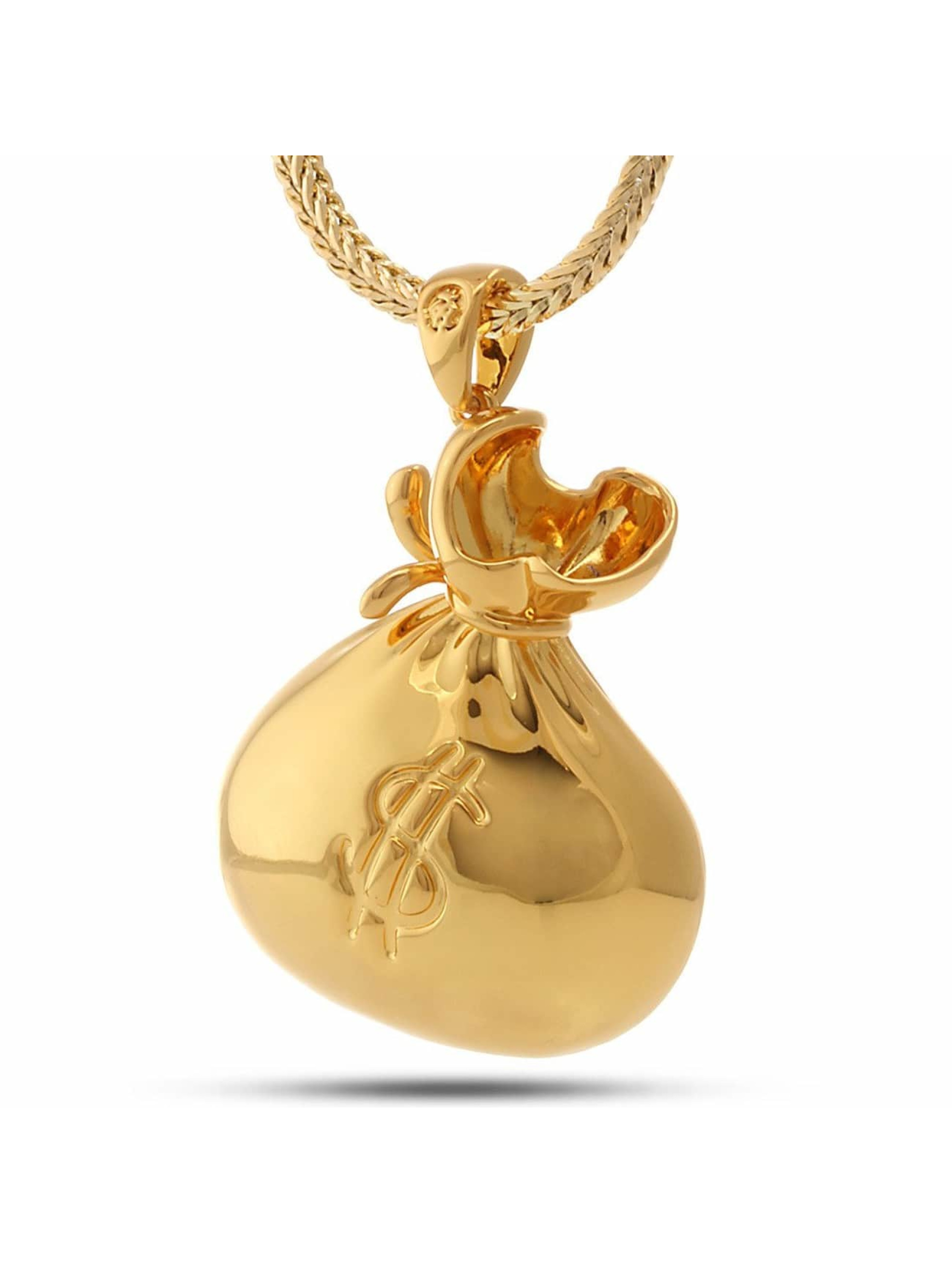KING ICE Necklace Money Bag gold