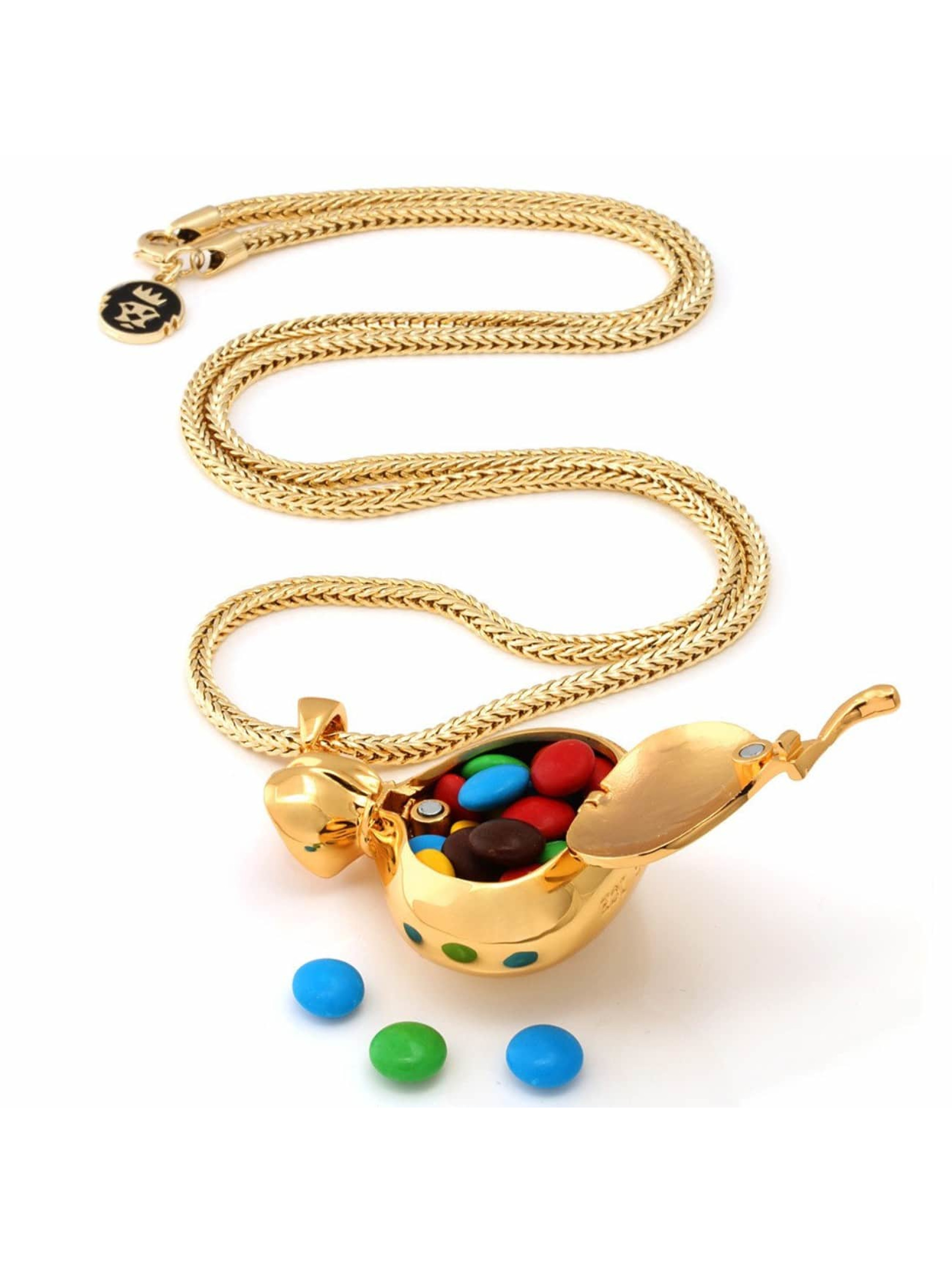 KING ICE Necklace Money Bag gold colored