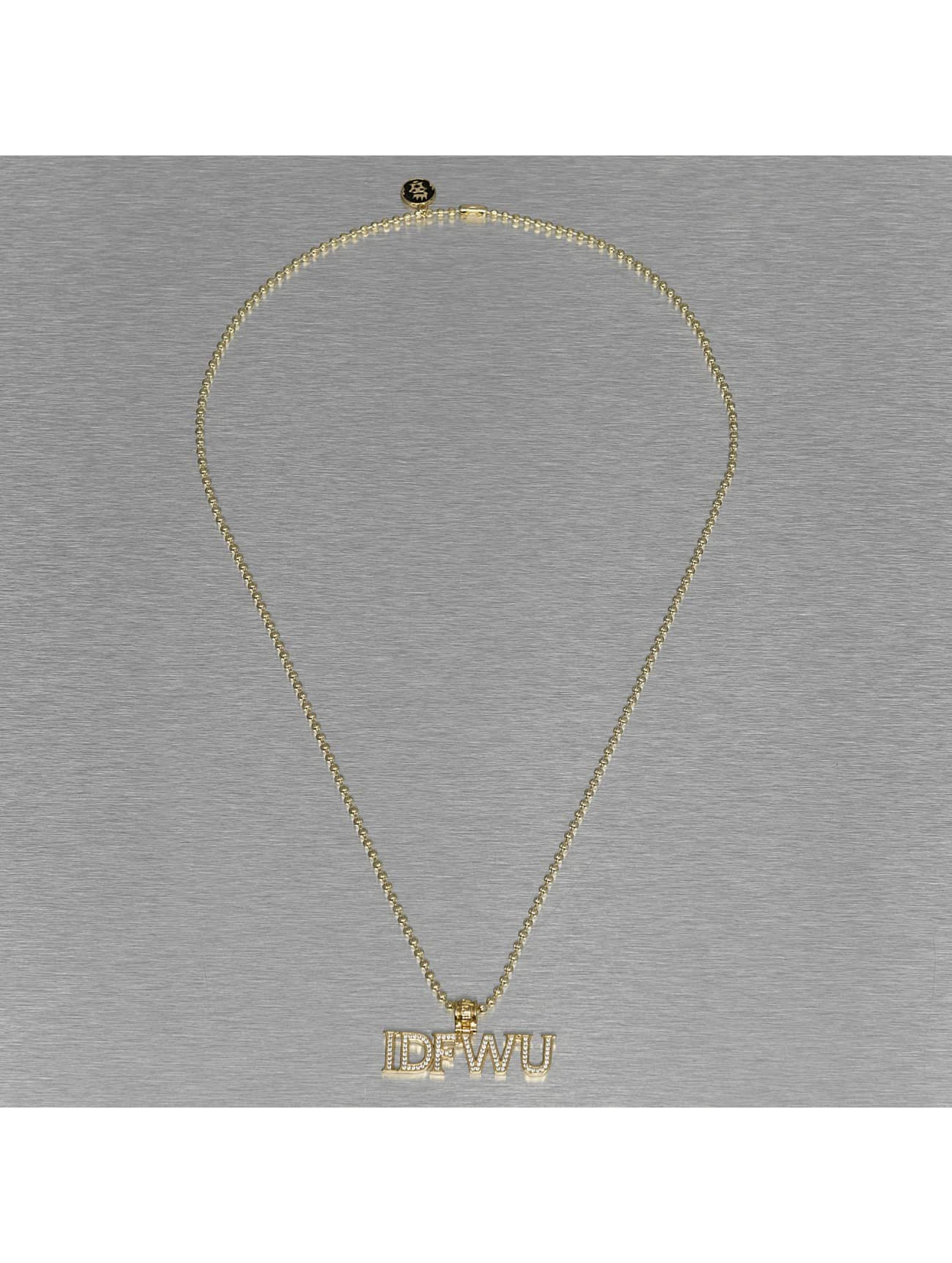 KING ICE Necklace IDFWU gold colored