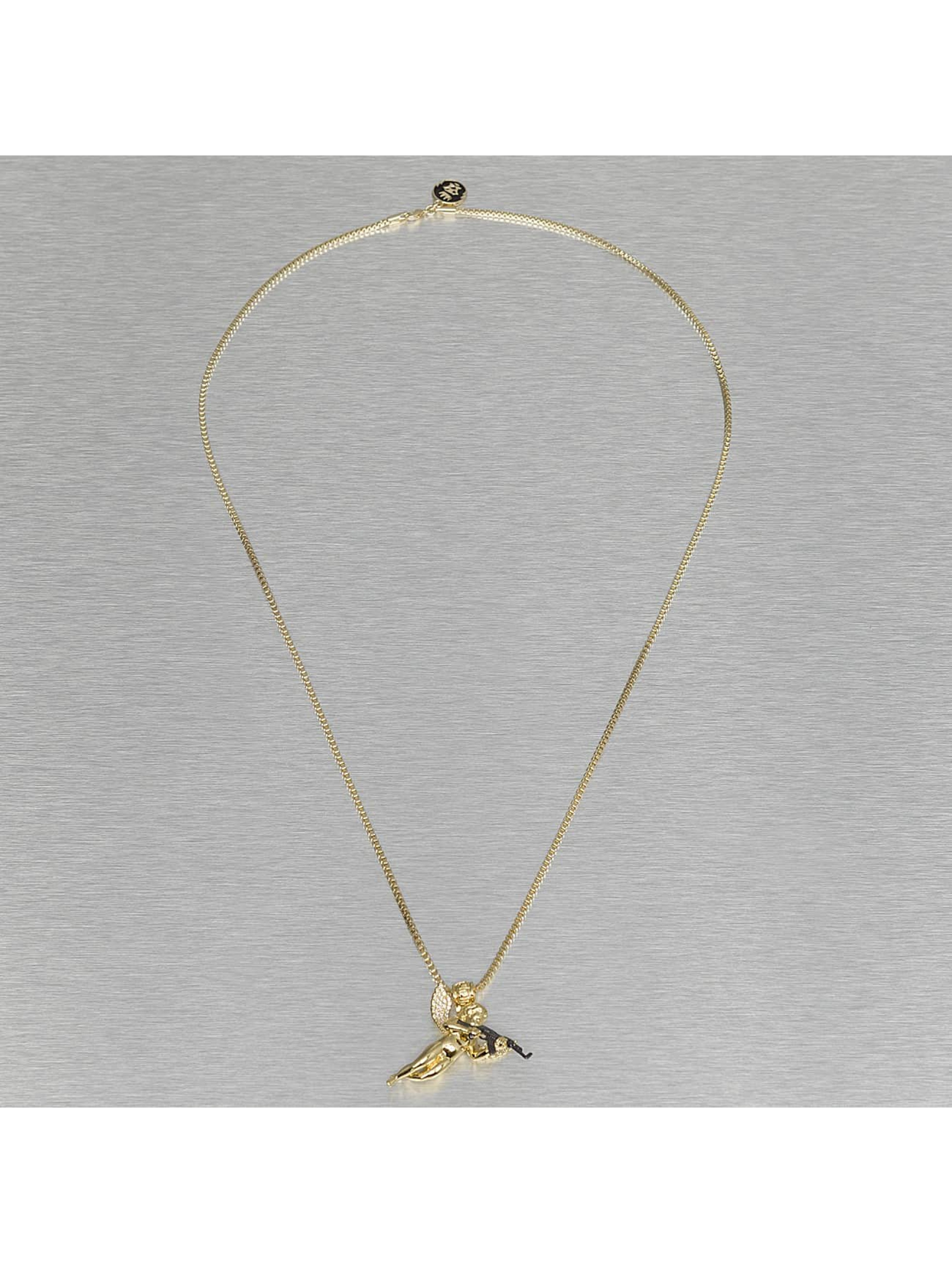 KING ICE Necklace Archangel Of Reprisal gold colored