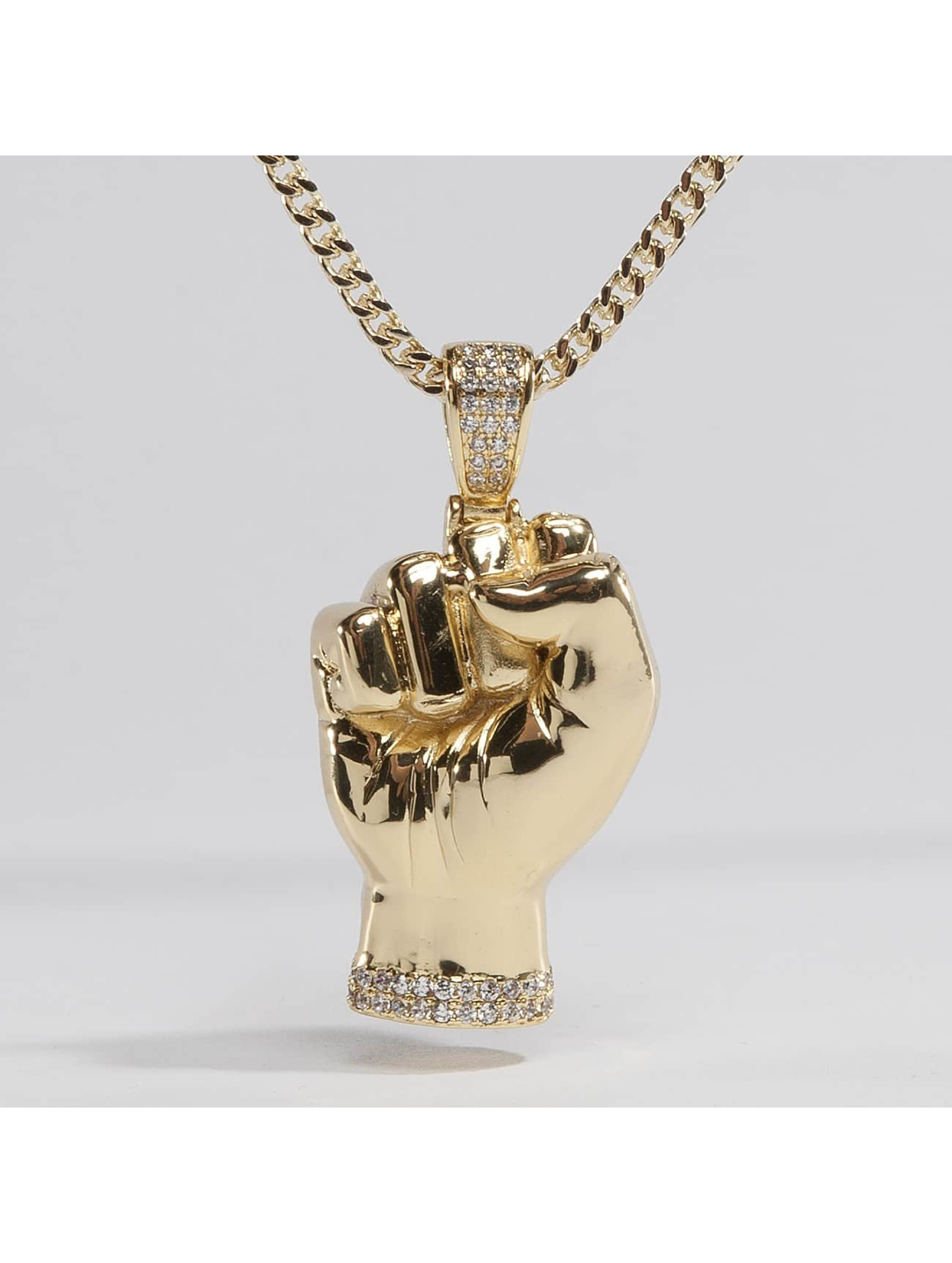KING ICE Necklace JUNGL JULZ Gold_Plated CZ Power gold colored