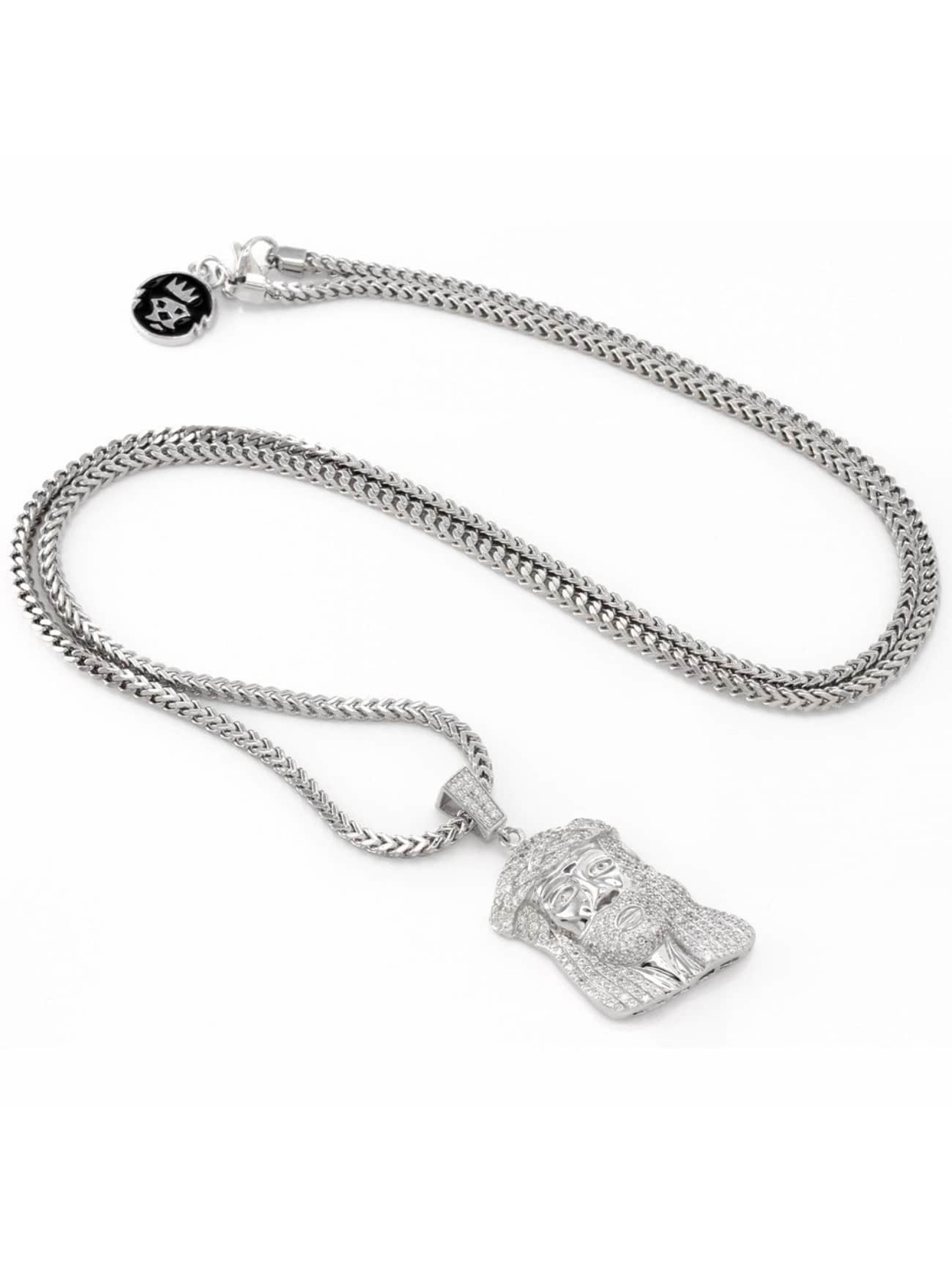 KING ICE Necklace Jesus Tear silver