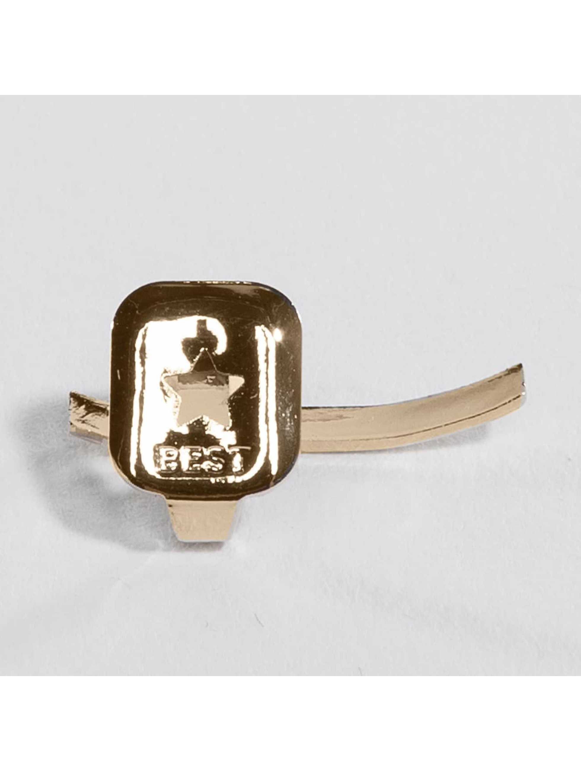 KING ICE Pozostałe Gold_Plated Cross Single Tooth Cap Top zloty
